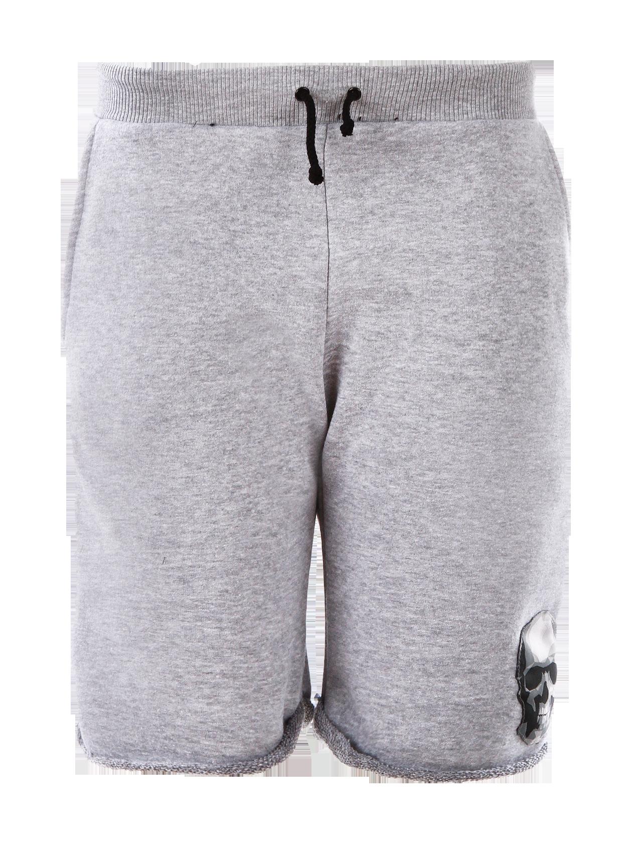 Шорты подростковые SkullШорты подростковые из новой коллекции Black Star Wear. Модель длиной до колена обладает прямым свободным силуэтом с необработанным краем и не стесняет движений. Выполнена из высококлассного хлопкового материала, дополнена боковыми карманами, широким поясом на завязках. На левой штанине нашивка череп. Прекрасно сочетается с футболками, толстовками и свитшотами.<br><br>Размер: 12-14 years<br>Цвет: Серый<br>Пол: Унисекс