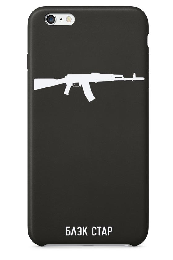 Чехол для iPhone 5/6/6+ Автомат от Black Star