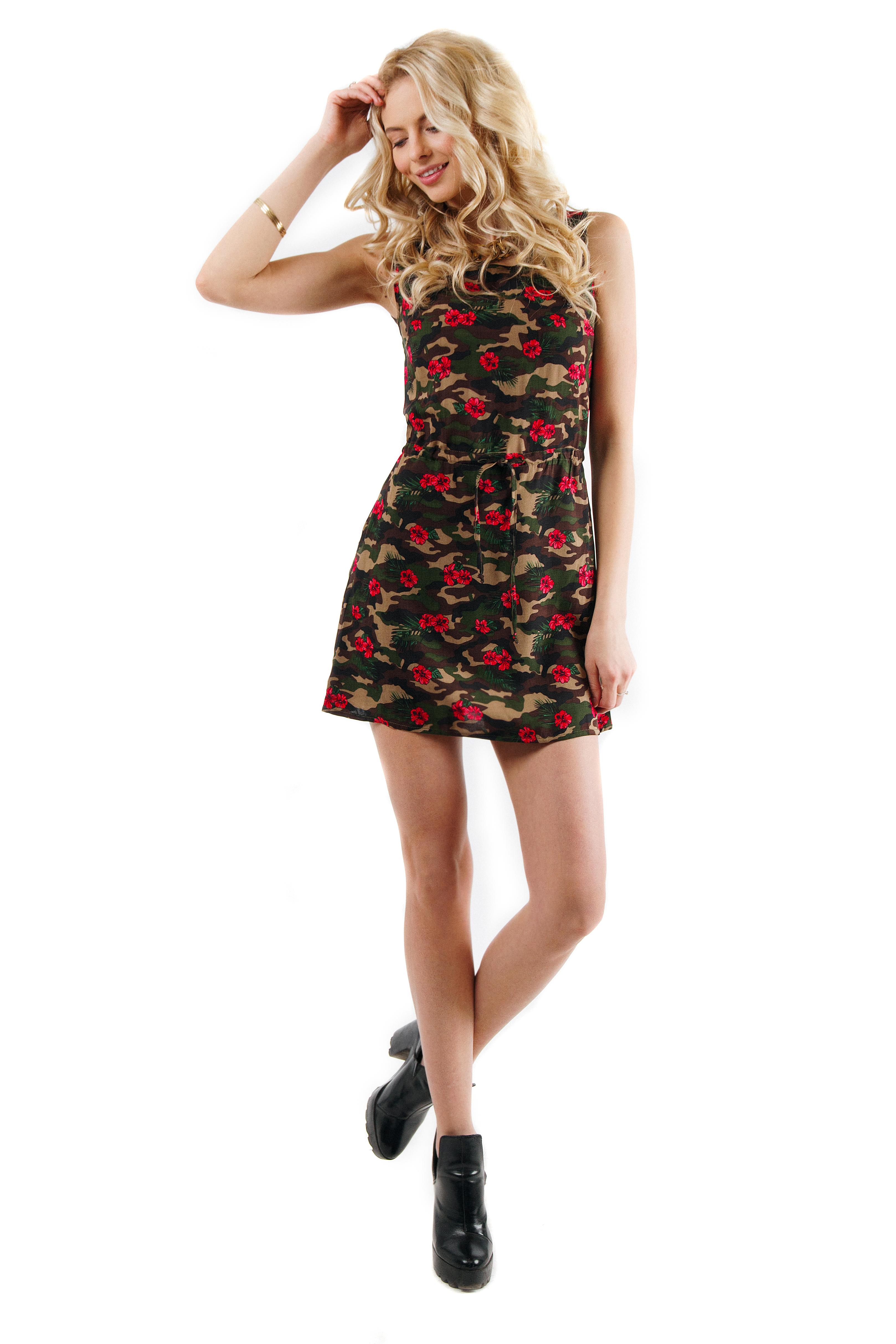 Womens dress Camo flowers
