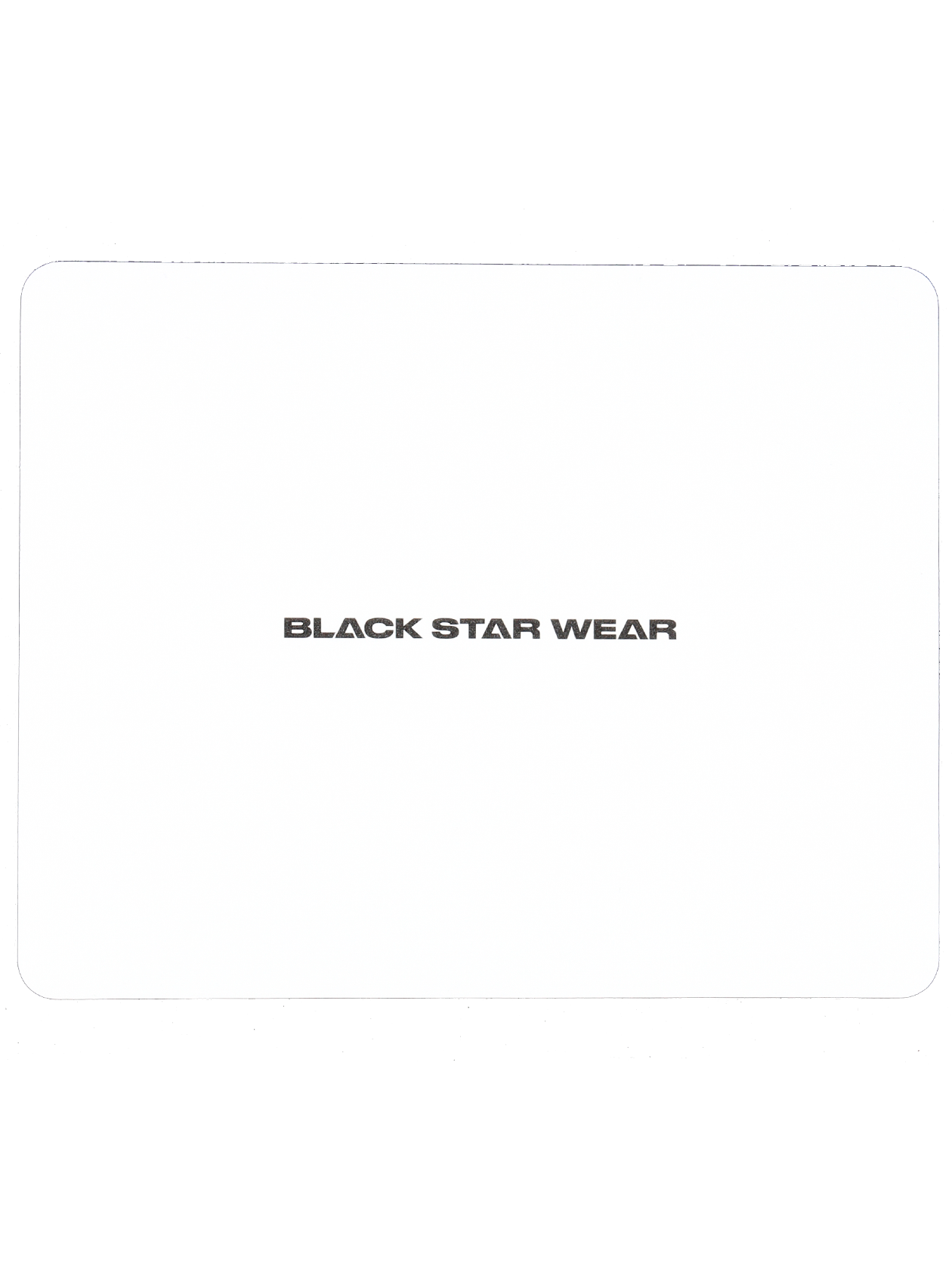 MOUSEPAD BLACK STAR WEARMousepad by Black Star Wear. Rectangle shape. White with black logo.<br><br>size: One size<br>color: White<br>gender: unisex