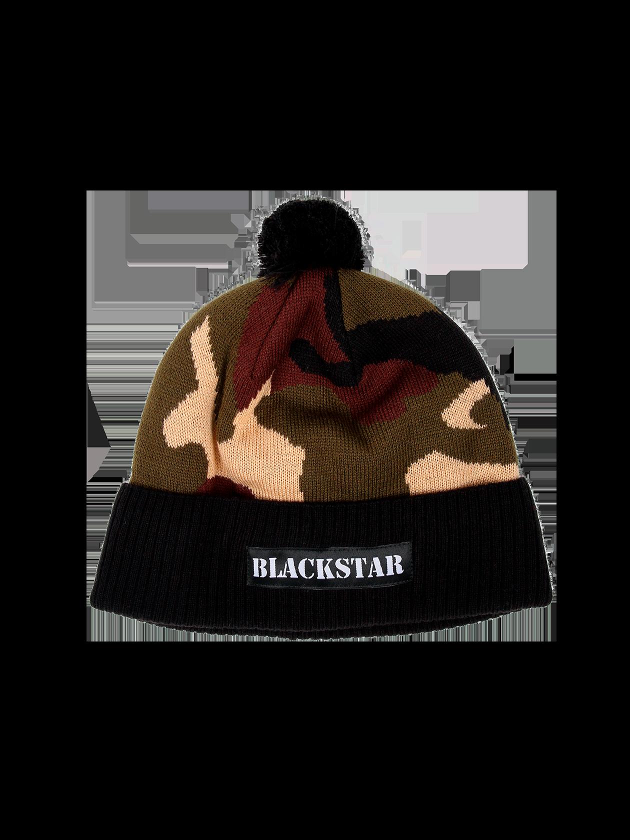 Шапка унисекс Camo Black StarТёплая зимняя шапка унисекс Black Star Wear. Модель с подворотом, нашивкой автомат и помпоном. Изделие камуфляжной расцветки из 100% акрила.<br><br>Размер: Единый размер<br>Цвет: Камуфляж<br>Пол: Унисекс