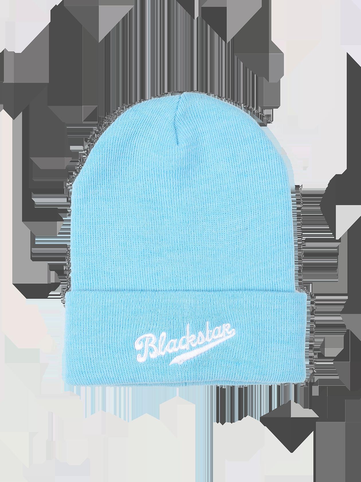 Шапка унисекс ChampionТёплая шапка унисекс Black Star Wear. Модель с подворотом, декорированным вышивкой Blackstar. Изделие из 100% акрила. Доступно голубом, синем, бордовом и чёрном цвете.<br><br>Размер: Единый размер<br>Цвет: Голубой<br>Пол: Унисекс