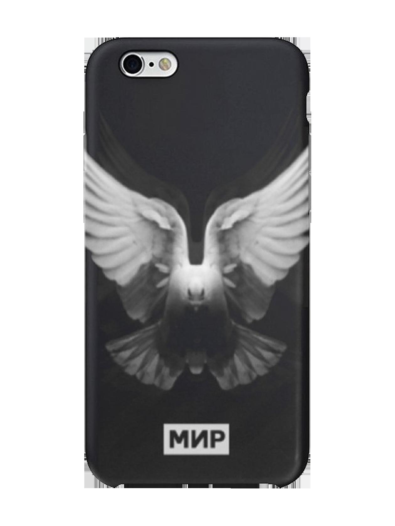 Чехол для iPhone 5/6/6+ BirdСтильный чехол для iPhone от Black Star Wear – беспроигрышный вариант для самовыражения и творческих экспериментов. Аксессуар выполнен в виде задней стенки устройства из элитного пластика, который отлично защищает хрупкий гаджет от пыли и механических повреждений. Кейс представлен в черном цвете, дополнен актуальным принтом с летящим голубем – птицей мира. С помощью такого чехла можно создать концептуальный образ, наслаждаясь каждым мгновением жизни.<br><br>Размер: 6+<br>Цвет: Черный<br>Пол: Унисекс