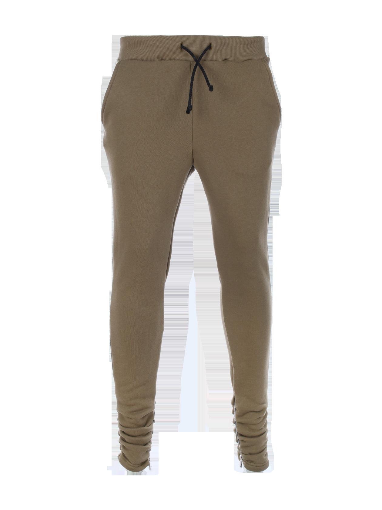 Unisex Pants Black Star Zip