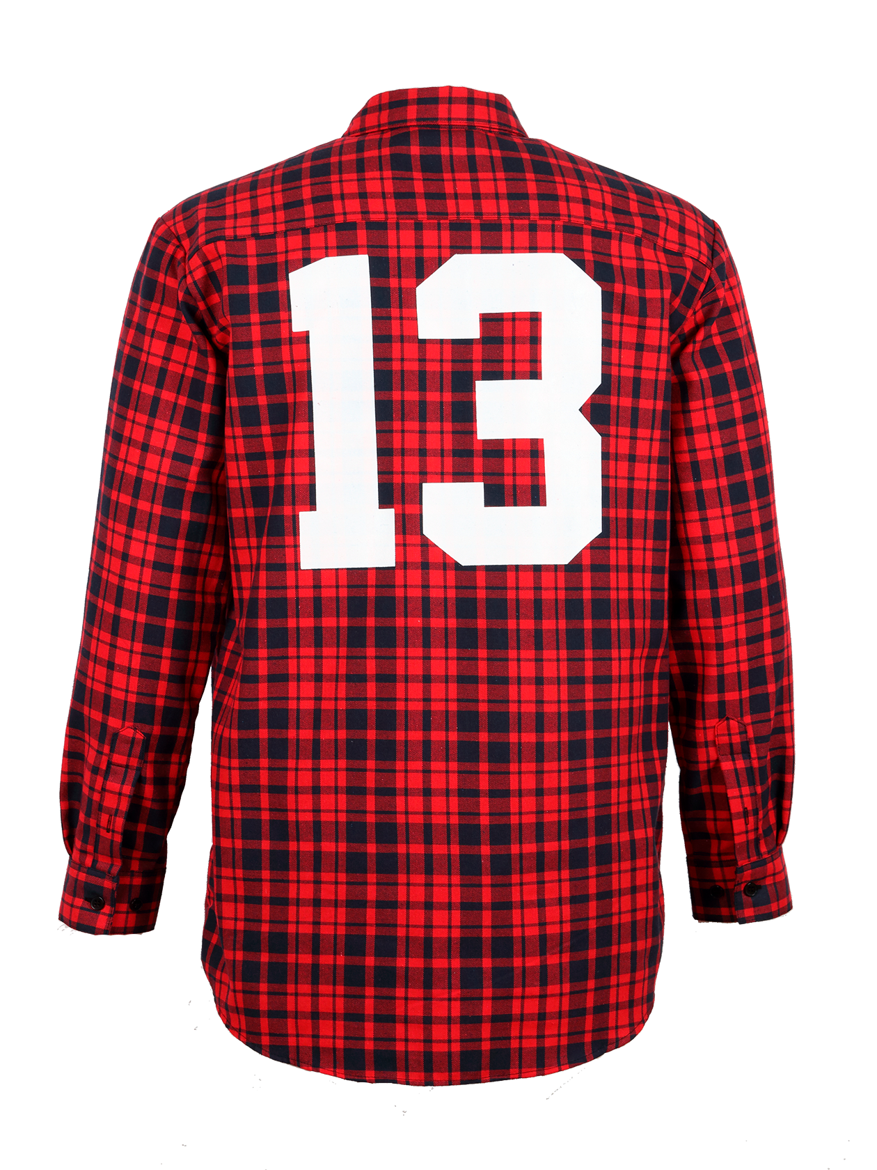 Mens shirt BS13Mens shirt by Black Star Wear. Straight cut, chest pockets on bottons. Big white print 13 on the back. 100% natural cotton. Available in blacknred.<br><br>size: M<br>color: Red<br>gender: male