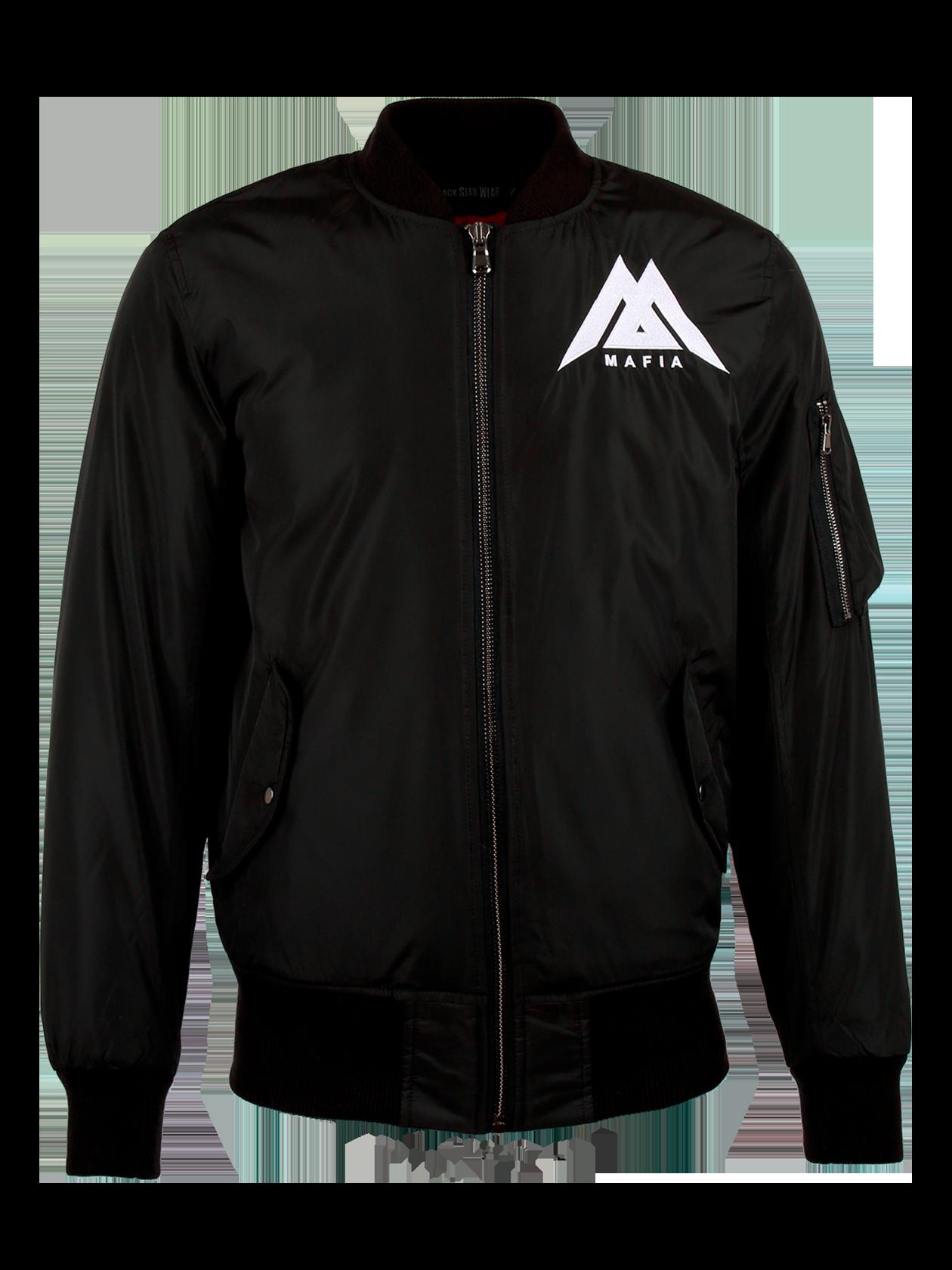 Куртка-бомбер мужская Black Star MafiaСтильная куртка-бомбер черного или серого цвета – необходимый предмет гардероба любого мужчины. Удобная модель из высококачественного нейлона с яркой подкладкой. Спереди и на рукаве имеются карманы. Воротник, манжеты и пояс представлены трикотажной резинкой. Изделие застегивается на молнию. В дизайне использованы принты и элементы в стилистике бренда Black Star.<br><br>Размер: L<br>Цвет: Черный<br>Пол: Мужской