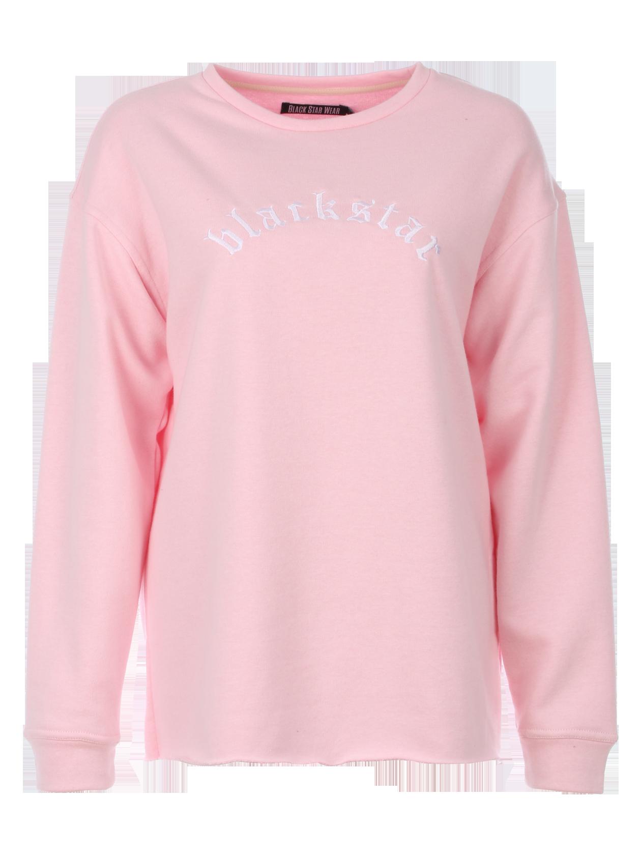 Толстовка женская EssentialЖенская толстовка Black Star Wear. Свободный крой, спущенная линия плеча. Округлая горловина, манжеты. Необработанный нижний край. Модель из бленда хлопка (80%) и полиэстра (20%). Доступна в розовом, чёрном, бежевом и молочном цветах.<br><br>Размер: S<br>Цвет: Розовый<br>Пол: Женский