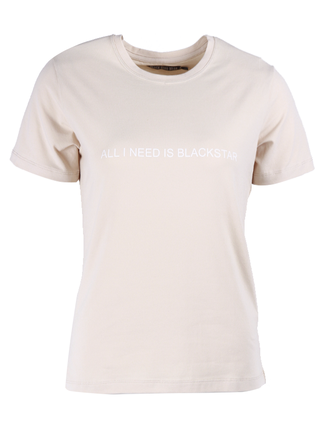 Womens t-shirt All you Need is Black StarSoft-touch jersey womens t-shirt by Black Star Wear. Minimalistic white print All I need is blackstar on the chest, 100% natural cotton tissue. Regular fit, crew neck. Avaliable in soft-pink and beige color.<br><br>size: M<br>color: Beige<br>gender: female