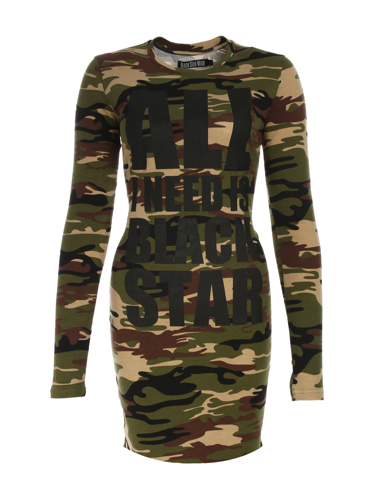 Платье женское All I Need Is Black Star Camo