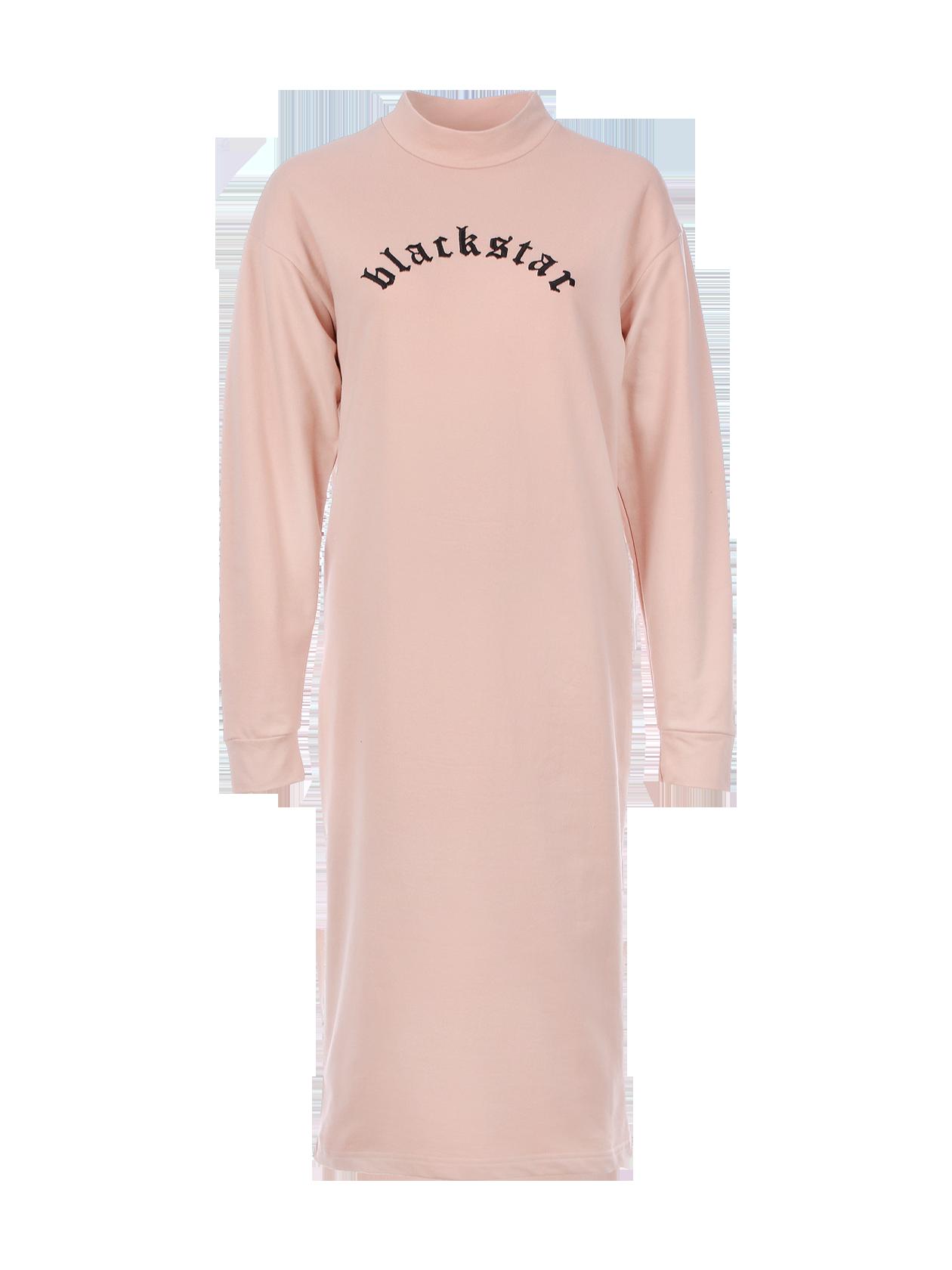 Платье женское PLAINЖенское платье из коллекции Black Star Wear. Модель длиной ниже колена с декоративным швом вдоль спинки. Сзади снизу небольшой разрез. Высокая горловина, рукава с манжетами. На груди контрастная вышивка blackstar. Изделие из 100% натурального хлопка, доступно в бежевом цвете.<br><br>Размер: M<br>Цвет: Бежевый<br>Пол: Женский