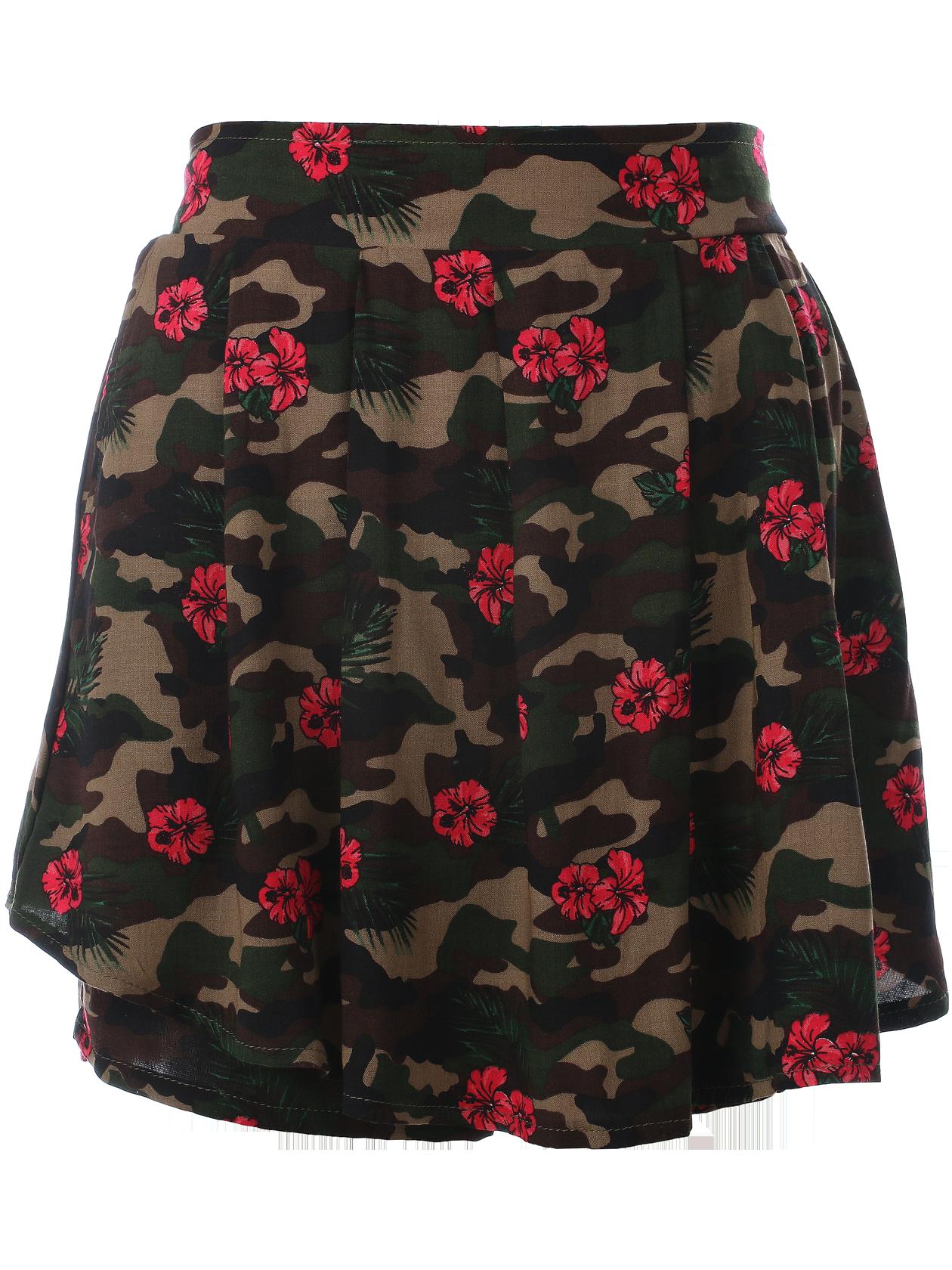 Womens Skirt Camo flowers от BlackStarWear INT