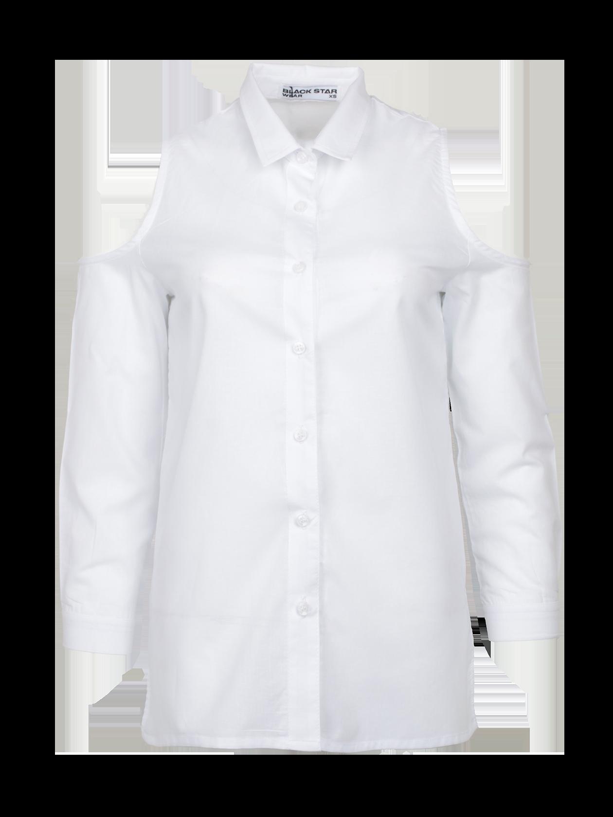 Рубашка женская ROYALTY 13Модная рубашка женская Royalty 13 для создания стильного образа на каждый день. Модель классического дизайна с прямым кроем, рубашечным воротником и планкой с пуговицами. Эффектная фишка изделия – глубокий вырез в верхней части рукавов. Для пошива вещи использовано особое хлопковое полотно, отличающееся практичностью и долговечностью. Рубашка представлена в белой, ментоловой и синий/белой расцветке. Подберите к ней леггинсы, брюки или юбку из коллекции Black Star Wear и станьте настоящей иконой стиля.<br><br>Размер: XS<br>Цвет: Белый<br>Пол: Женский
