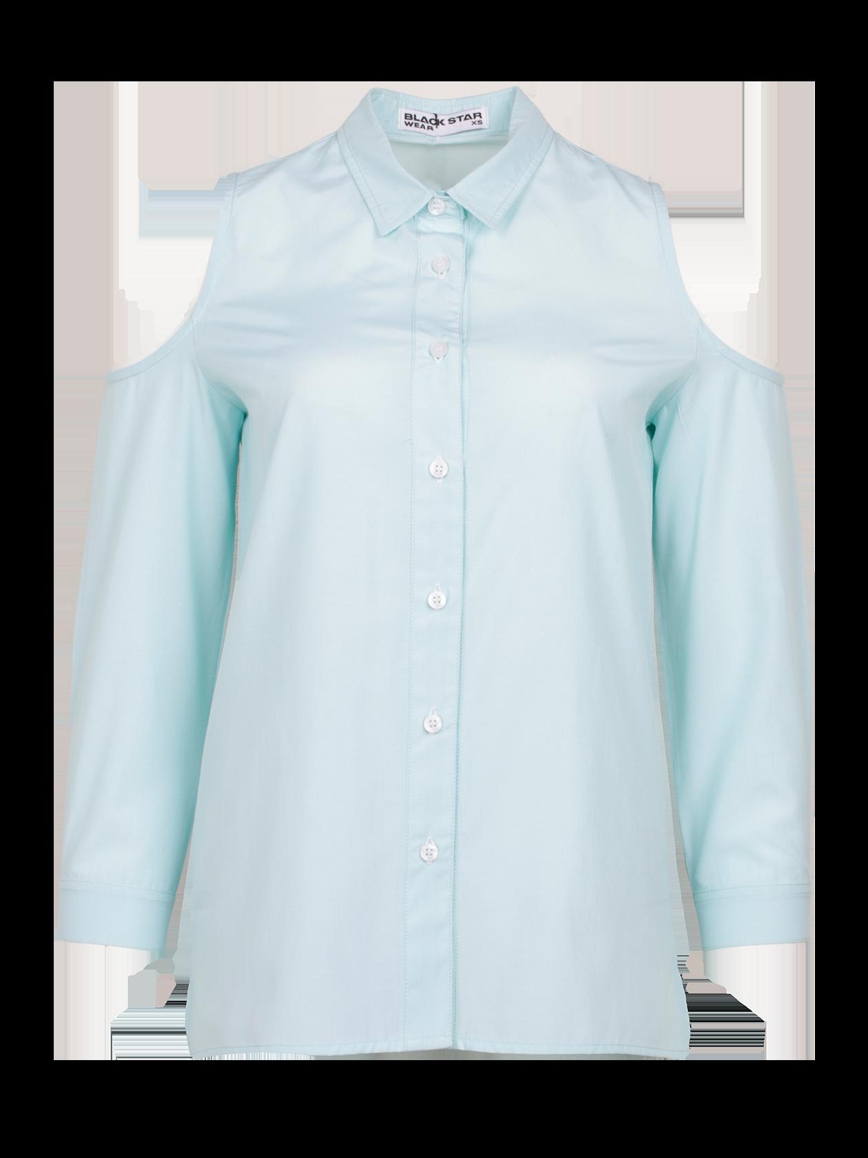 Рубашка женская ROYALTY 13Модная рубашка женская Royalty 13 для создания стильного образа на каждый день. Модель классического дизайна с прямым кроем, рубашечным воротником и планкой с пуговицами. Эффектная фишка изделия – глубокий вырез в верхней части рукавов. Для пошива вещи использовано особое хлопковое полотно, отличающееся практичностью и долговечностью. Рубашка представлена в белой, ментоловой и синий/белой расцветке. Подберите к ней леггинсы, брюки или юбку из коллекции Black Star Wear и станьте настоящей иконой стиля.<br><br>Размер: M<br>Цвет: Ментоловый<br>Пол: Женский