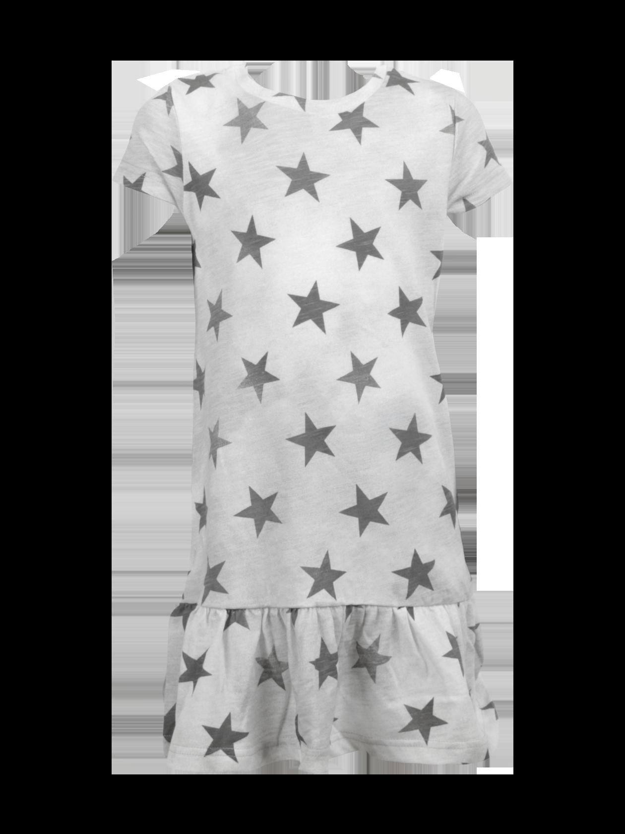 Платье детское ALL STARSПлатье детское All Stars от бренда Black Star – яркое дополнение повседневного гардероба юной модницы. Модель представлена в сером цвете, дополненном затемнениями и крупными звездами по всему изделию. Крой прямой, свободный, с отрезной нижней частью со сборкой. Рукав короткий, горловина округлой формы с окантовкой и лейблом Black Star Wear на изнаночной стороне. Платье изготовлено из натурального хлопка класса «люкс», отличается долговечностью и износоустойчивостью.<br><br>Размер: 6 years<br>Цвет: Серый<br>Пол: Унисекс