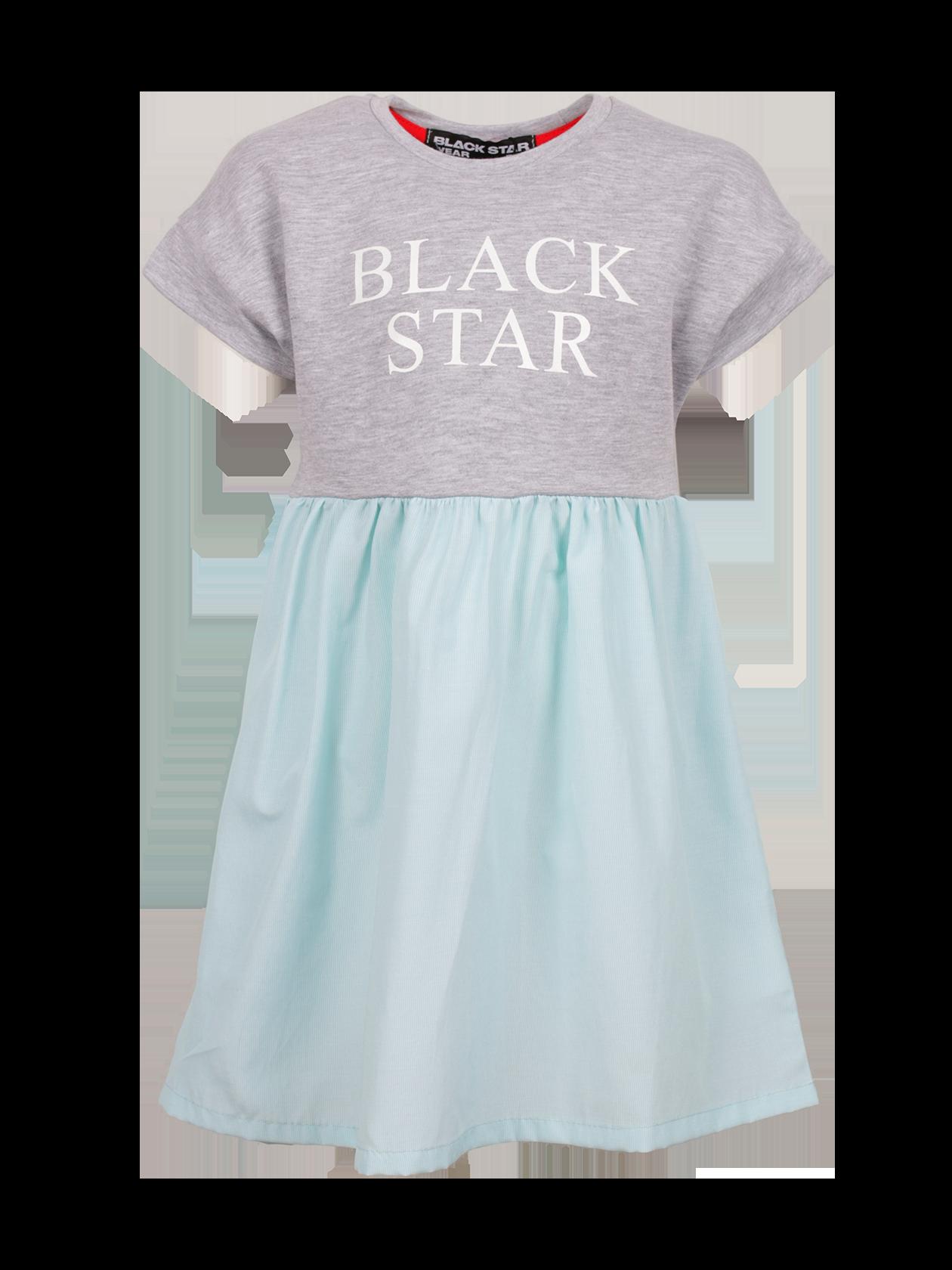 Платье детское STRIPS SKIRTПлатье детское Strips Skirt от бренда Black Star Wear – стильная и практичная вещь для юных модниц. Модель отрезного типа изготовлена из высококачественного натурального хлопка. Верх выполнен в виде футболки прямого свободного кроя с цельнокроеным коротким рукавом и горловиной округлой формы. Юбка со сборкой длиной чуть ниже колен. На груди оформлена крупная надпись Black Star. Верхняя часть представлена в сером цвете, нижняя – в голубом. Платье отлично сочетается как с классической обувью, так и спортивной, подходит для любого случая.<br><br>Размер: 11-12 years<br>Цвет: Серый<br>Пол: Унисекс