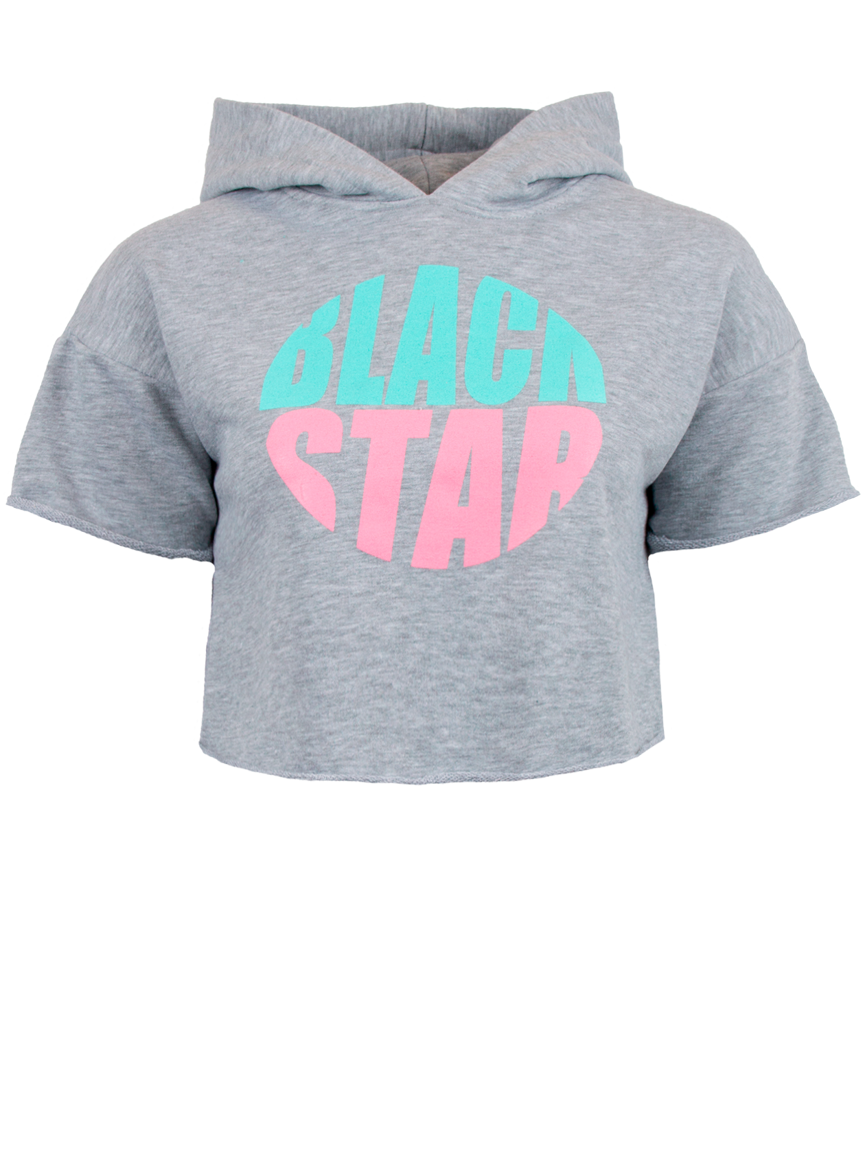 Футболка женская SUMMER HOODЭффектная футболка женская Summer Hood из коллекции Black Star Wear – яркая вещь для создания ежедневного лука. Укороченная модель прямого свободного кроя со спущенной линией плеча, переходящей в короткий широкий рукав. Дизайн дополнен объемным капюшоном и принтом в виде круга из надписи Black Star розовыми и ментоловыми буквами. Футболка представлена в популярной расцветке серый меланж, отлично сочетается со спортивным и повседневным гардеробом. Изготовлена из премиального 100% хлопка.<br><br>Размер: S<br>Цвет: Серый<br>Пол: Женский