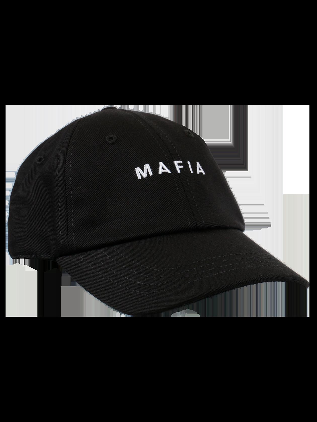 Кепка унисекс MAFIA BSСтильная кепка унисекс Mafia BS лаконичной черной расцветки идеально подходит для создания повседневного и спортивного стиля. Модель классического дизайна с пятью клиньями, вентиляционными отверстиями и дугообразным широким козырьком. В передней части аксессуара оформлена вышивка с буквой «М» и словом «Mafia». Сзади имеется эластичная резинка, выполняющая фиксирующую функцию. Кепка из коллекции Black Star Wear отличается высоким качеством и практичностью за счет натурального материала.<br><br>Размер: Единый размер<br>Цвет: Черный<br>Пол: Унисекс