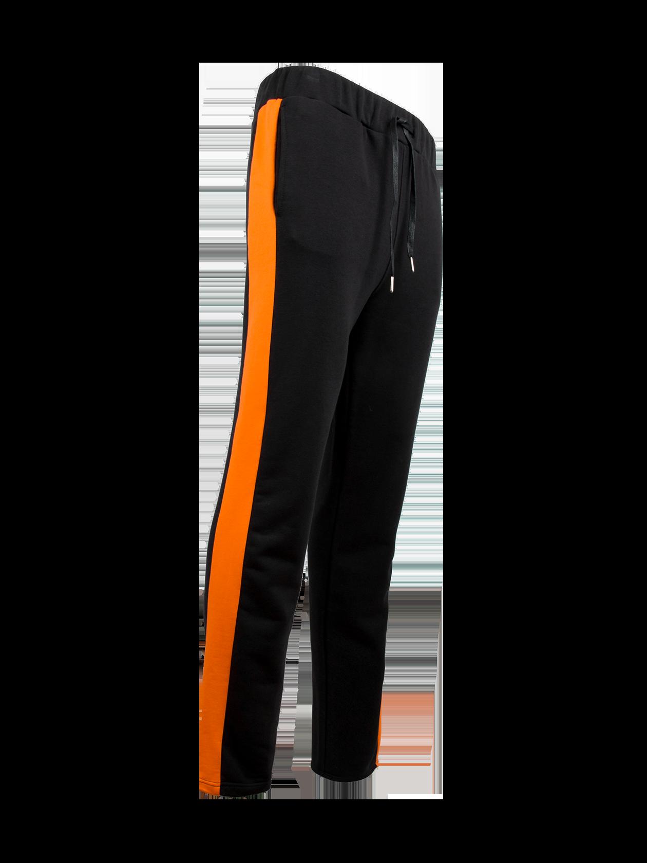 Брюки мужские FIRE FLAMEБрюки мужские Fire Flame из уникальной коллекции Orange Flame для тех, кто не боится бросать вызов на улицах серого урбана. Модель традиционной черной расцветки с эффектными оранжевыми вставками по бокам. Дизайн дополнен широким поясом на завязках и резинках, внутренними боковыми карманами. Изделие из премиального натурального хлопка, сшитого по особой технологии, обладает практичностью и долговечностью. Брюки идеально подходят для спортивной деятельности, прогулок и отдыха.<br><br>Размер: M<br>Цвет: Черный/Оранжевый<br>Пол: Мужской