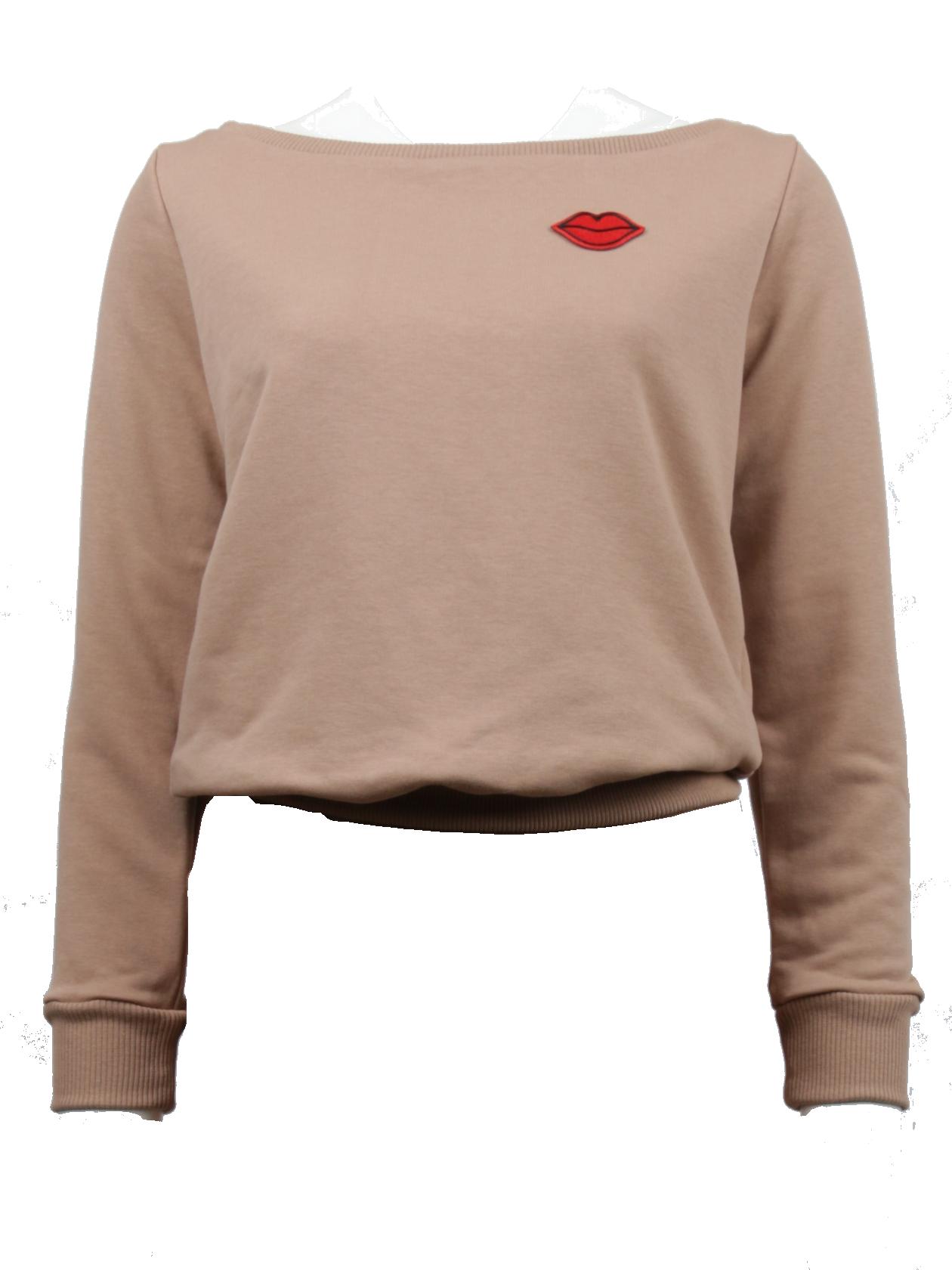 Костюм спортивный женский MON AMOURСтильный костюм спортивный женский Mon Amour идеально впишется в повседневный гардероб активной девушки. Лаконичная расцветка темный беж никогда не выходит из моды и отлично комбинируется с любой другой цветовой гаммой одежды и обуви. Верх представлен свитшотом с длинным рукавом с эластичными вставками на манжетах. Горловина выполнена в форме неглубокой лодочки, содержит лейбл Black Star Wear на внутренней стороне. Брюки прямого полуоблегающего кроя с широким поясом на резинке и завязках и фиксирующими вставками на голенище. Дизайн дополнен яркими нашивками в виде красных губ на левой штанине и в верхней части свитшота. Костюм спортивный сшит из первоклассного натурального хлопка.<br><br>Размер: S<br>Цвет: Бежевый<br>Пол: Женский