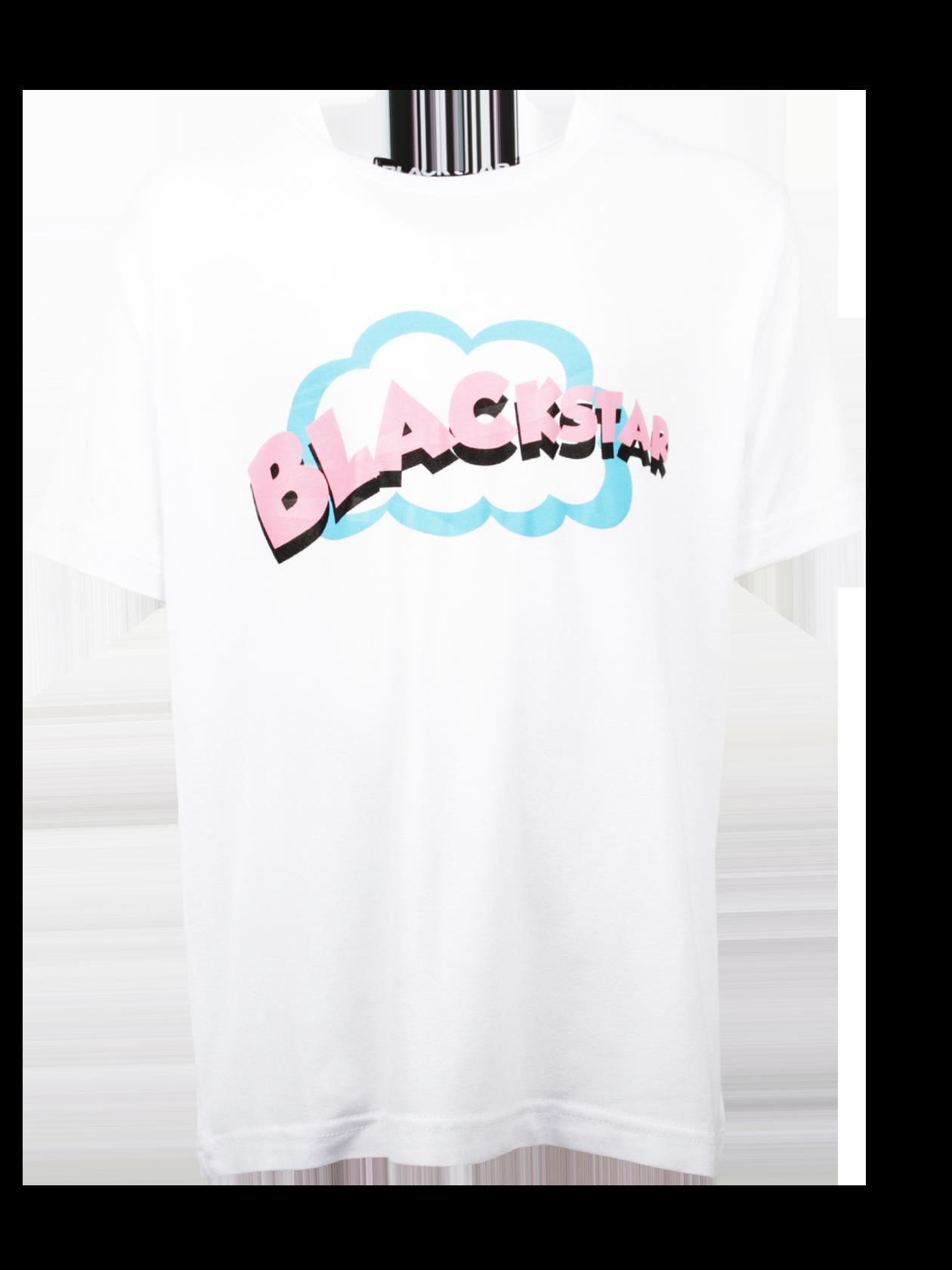 Футболка детская CARTOONS BSМодная и практичная футболка детская Cartoons BS из коллекции Black Star Wear – незаменимая вещь в гардеробе активного ребенка. Изделие обладает прямым свободным кроем, дополнено широким коротким рукавом и неглубокой круглой горловиной. Модель представлена в базовом белом цвете, декорирована принтом с фронтальной стороны в виде облака и надписи Black Star. Изготовленная из высококачественного 100% хлопка, футболка гарантирует максимальный комфорт во время движений.<br><br>Размер: 11-12 years<br>Цвет: Белый<br>Пол: Унисекс