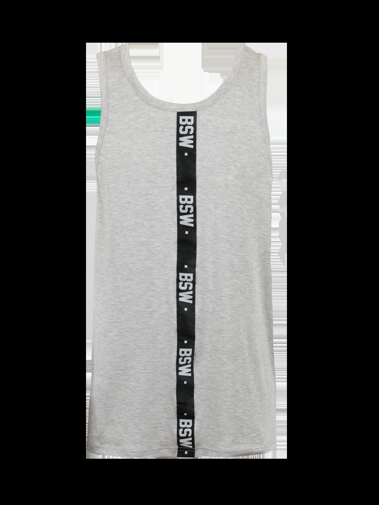 Майка мужская HARAJUKU 2.0Стильная мужская майка Harajuku 2.0 поможет разнообразить повседневный лук. Модель спортивного типа обладает прямым свободным кроем, удлиненным силуэтом. Изделие представлено в базовых белой и черной расцветках, отлично сочетающихся с всевозможной одеждой и обувью. Дизайн дополнен черными вертикальными вставками с надписями BSW, оформленными по центру фронтальной и тыльной стороны. Майка сшита из натурального хлопка премиального качества, идеально подходит для спорта и отдыха.<br><br>Размер: XL<br>Цвет: Серый меланж<br>Пол: Мужской
