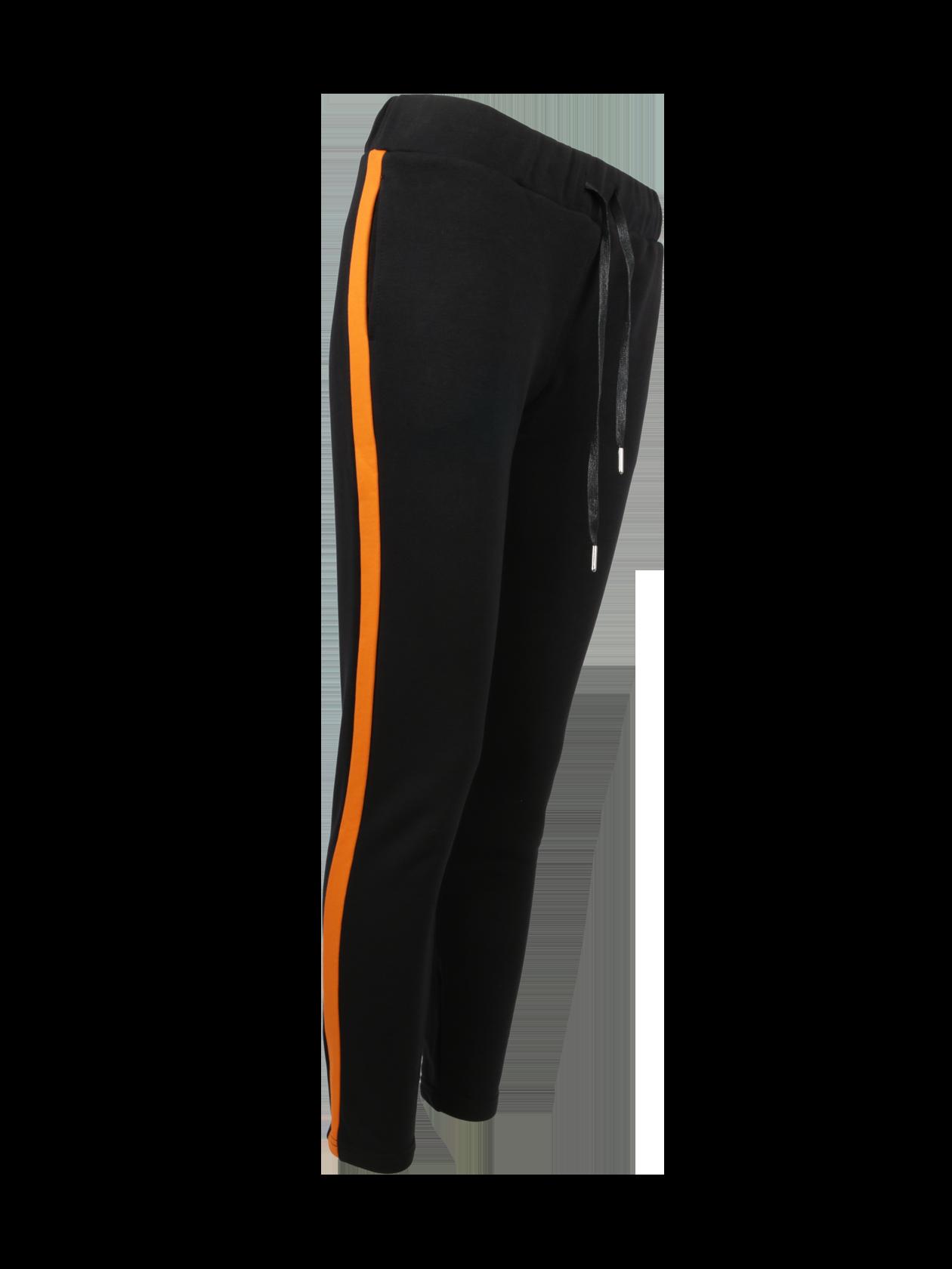 Брюки женские FIRE FLAMEБрюки женские Fire Flame из коллекции Orange Flame, представленной брендом Black Star Wear. Модель спортивного стиля обладает прямым полуприлегающим силуэтом. Традиционный черный цвет отлично впишется в базовый гардероб. Лаконичные мотивы дополнены яркими элементами в виде оранжевых вертикальных вставок, расположенных по бокам изделия. Широкий пояс на резинке и завязках комфортно фиксирует брюки на фигуре. Особенностью вещи является материал – она сшита по секретной технологии из 100% хлопка класса «люкс».<br><br>Размер: S<br>Цвет: Черный/Оранжевый<br>Пол: Женский