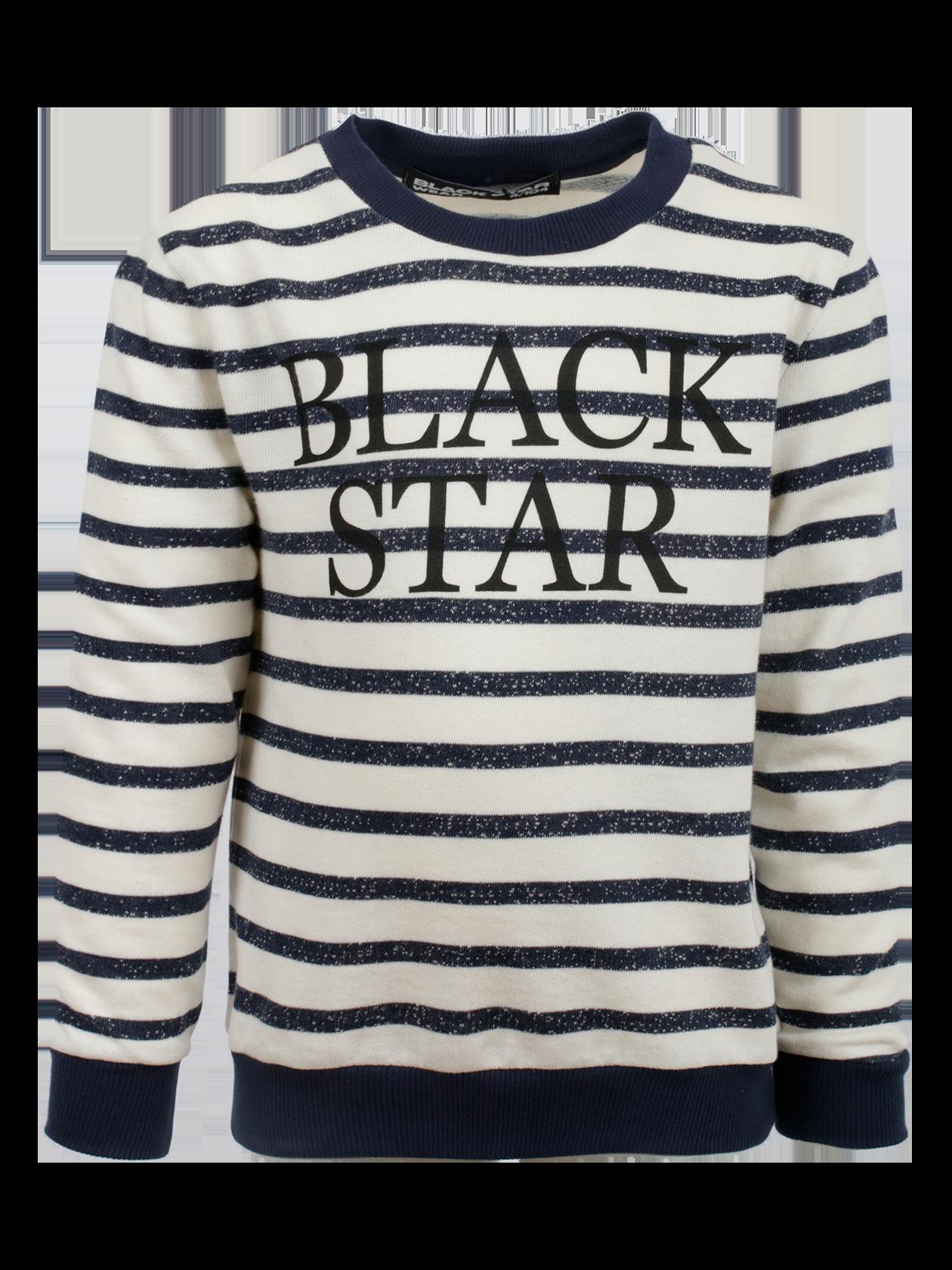 Толстовка детская STRIPS KIDSТолстовка детская Strips Kids из коллекции Black Star Wear – идеальное решение на каждый день. Модель прямого свободного силуэта подходит для прогулок, спортивных занятий. Горловина округлой формы с эластичной обработкой края темно-синего цвета, с изнаночной стороны оформлен лейбл Black Star Wear. Изделие представлено в актуальной белой расцветке с синими полосками. Манжеты и низ вещи выполнены из гофрированного трикотажа темно-синего оттенка. При пошиве толстовки использован натуральный хлопок элитного качества, за счет которого вещь отличается высокой износоустойчивостью. На груди крупная надпись Black Star.<br><br>Размер: 6 years<br>Цвет: Черный/Белый<br>Пол: Унисекс