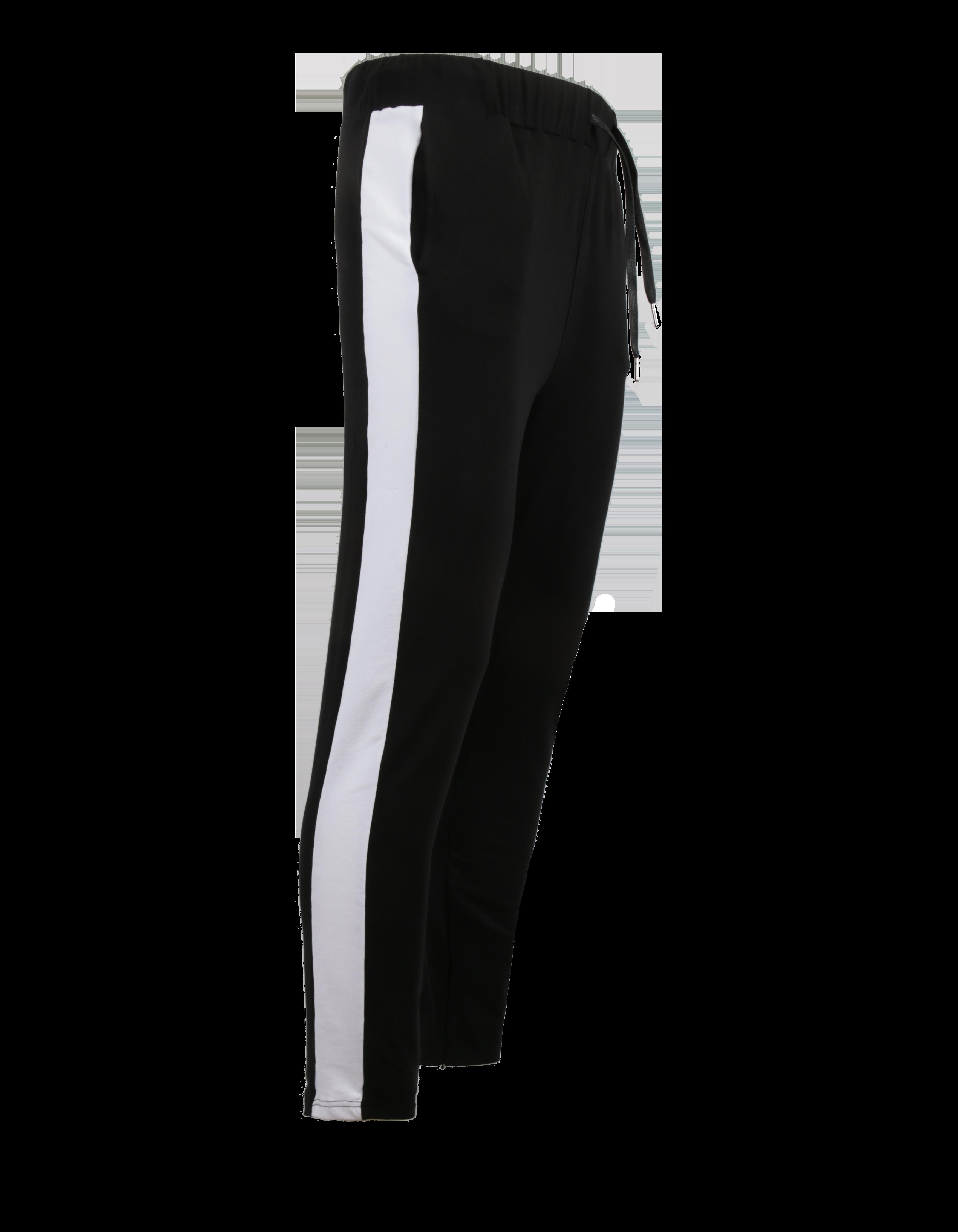 Брюки мужские HARAJUKUБрюки мужские Harajuku – неотъемлемая часть гардероба активного молодого человека. Модель спортивного стиля обладает прямым кроем, полуоблегающим силуэтом и небольшим припуском. На поясе оформлена эластичная резинка и завязки, идеально фиксирующие вещь по фигуре. По бокам широкие белые вставки, создающие стильный контраст с черным фоном изделия. Дизайн дополнен внутренними карманами, расположенными по бокам. Для пошива брюк использован премиальный 100% хлопок.<br><br>Размер: XS<br>Цвет: Черный/Белый<br>Пол: Мужской