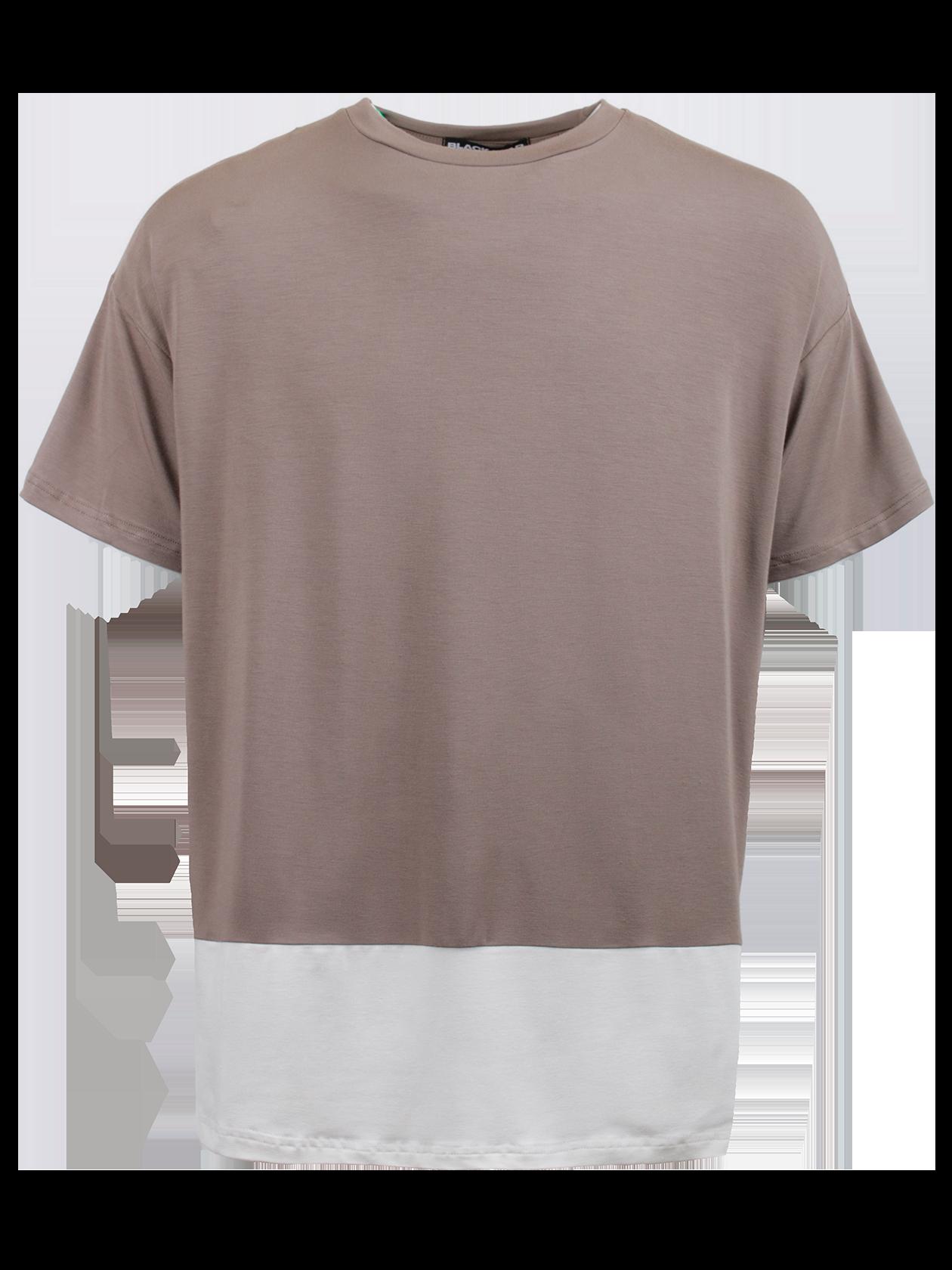 Футболка мужская BS REGULARФутболка мужская BS Regular – стильный и удобный вариант на каждый день. Модель свободного силуэта с небольшим расширением к верхней части. Опущенная линия плеча, широкий короткий рукав, узкая горловина с эластичной обработкой. Изделие представлено в двух расцветках – хаки с белым низом и черная с белым низом. С тыльной стороны внизу оформлена крупная надпись Black Star. Футболка создана из элитного натурального хлопка, отличающегося особым качеством и практичностью.<br><br>Размер: XL<br>Цвет: Хаки<br>Пол: Мужской