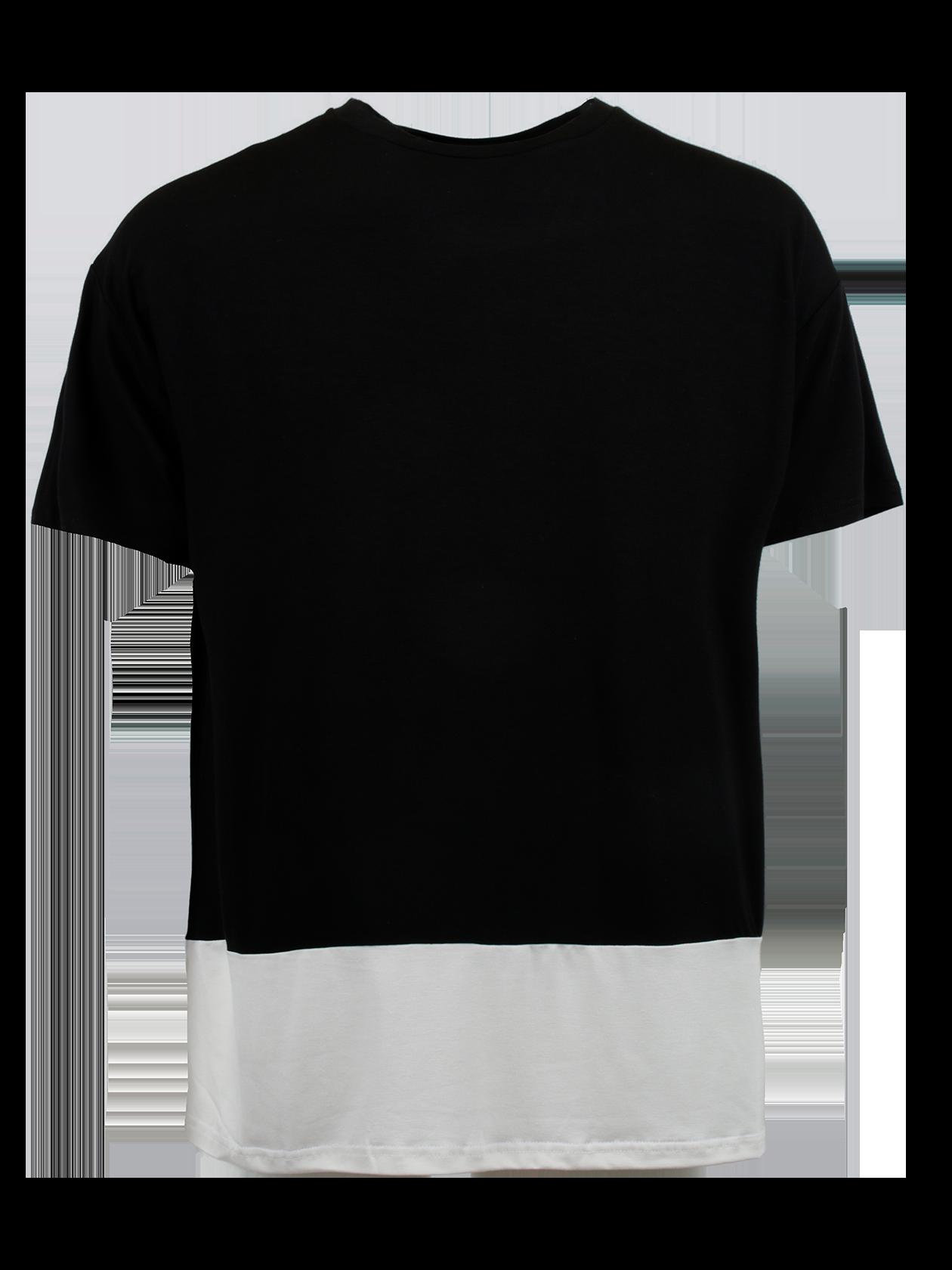 Футболка мужская BS REGULARФутболка мужская BS Regular – стильный и удобный вариант на каждый день. Модель свободного силуэта с небольшим расширением к верхней части. Опущенная линия плеча, широкий короткий рукав, узкая горловина с эластичной обработкой. Изделие представлено в двух расцветках – хаки с белым низом и черная с белым низом. С тыльной стороны внизу оформлена крупная надпись Black Star. Футболка создана из элитного натурального хлопка, отличающегося особым качеством и практичностью.<br><br>Размер: M<br>Цвет: Черный<br>Пол: Мужской