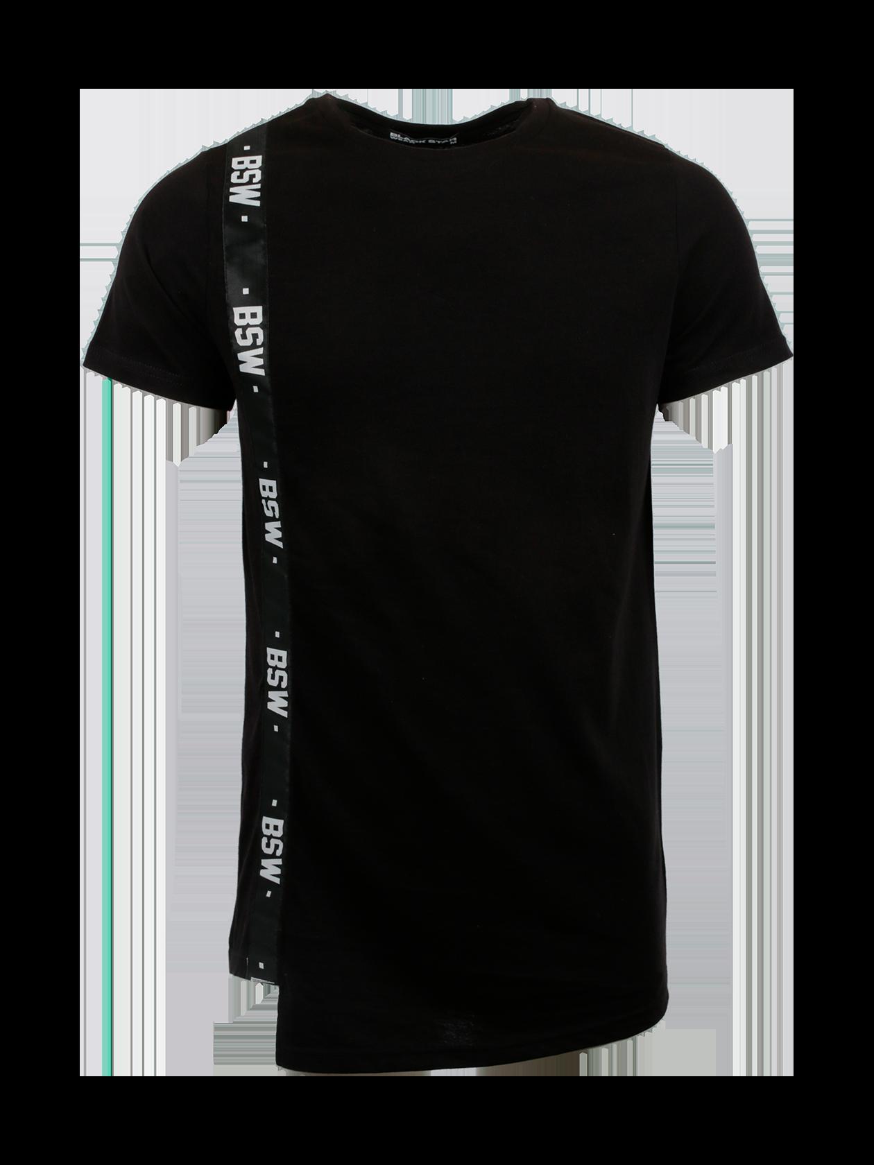 Футболка мужская HARAJUKUСтильная черная футболка мужская Harajuku от бренда Black Star – идеальный выбор активных молодых людей. Модель спортивного типа обладает прямым свободным кроем, удлиненным силуэтом. Фронтальная сторона со скошенным нижним краем дополнена вертикальной вставкой в виде полоски с надписями BSW. Горловина стандартной округлой формы содержит жаккардовую нашивку с логотипом Black Star Wear с изнаночной стороны. Футболка изготовлена из натурального хлопка класса «люкс», отличается высокой практичностью и износоустойчивостью.<br><br>Размер: S<br>Цвет: Черный<br>Пол: Мужской
