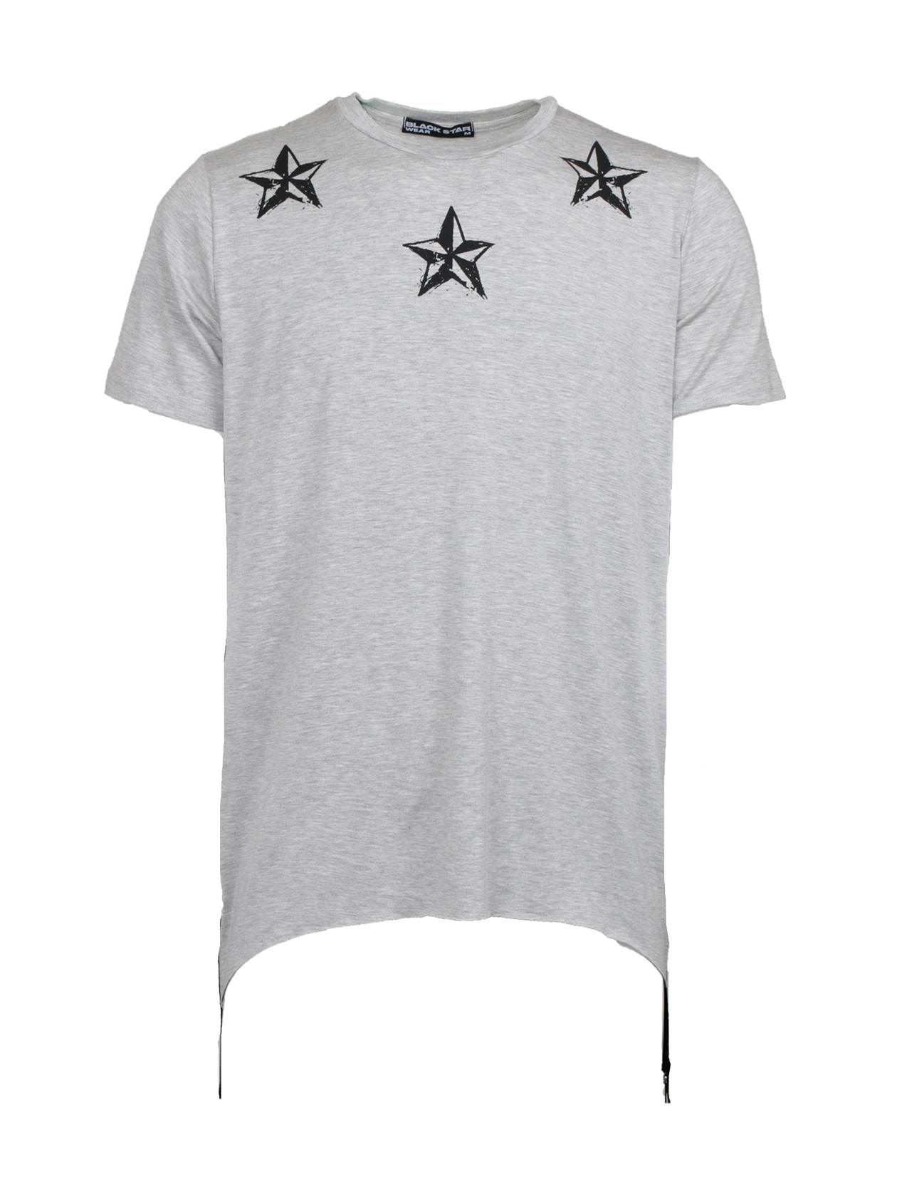 Футболка мужская REGULARМужская футболка из новой коллекции Black Star Wear. Стильная, практичная и очень качественная модель свободного кроя с коротким рукавом, а так же уникальным дизайнерским рисунком на груди в стилеBlack Star. Изделие выполнено из натурального хлопка премиального качества, что обеспечит безупречный комфорт. Низ дополняет ультрамодное дизайнерское решение в виде черных широких молний по бокам. Идеально дополнит стильный мужской образ на каждый день. Несомненно станет незаменимой и любимой вещью в гардеробе. Модель доступна в сером, черном и белом цветах.<br><br>Размер: L<br>Цвет: Серый меланж<br>Пол: Мужской
