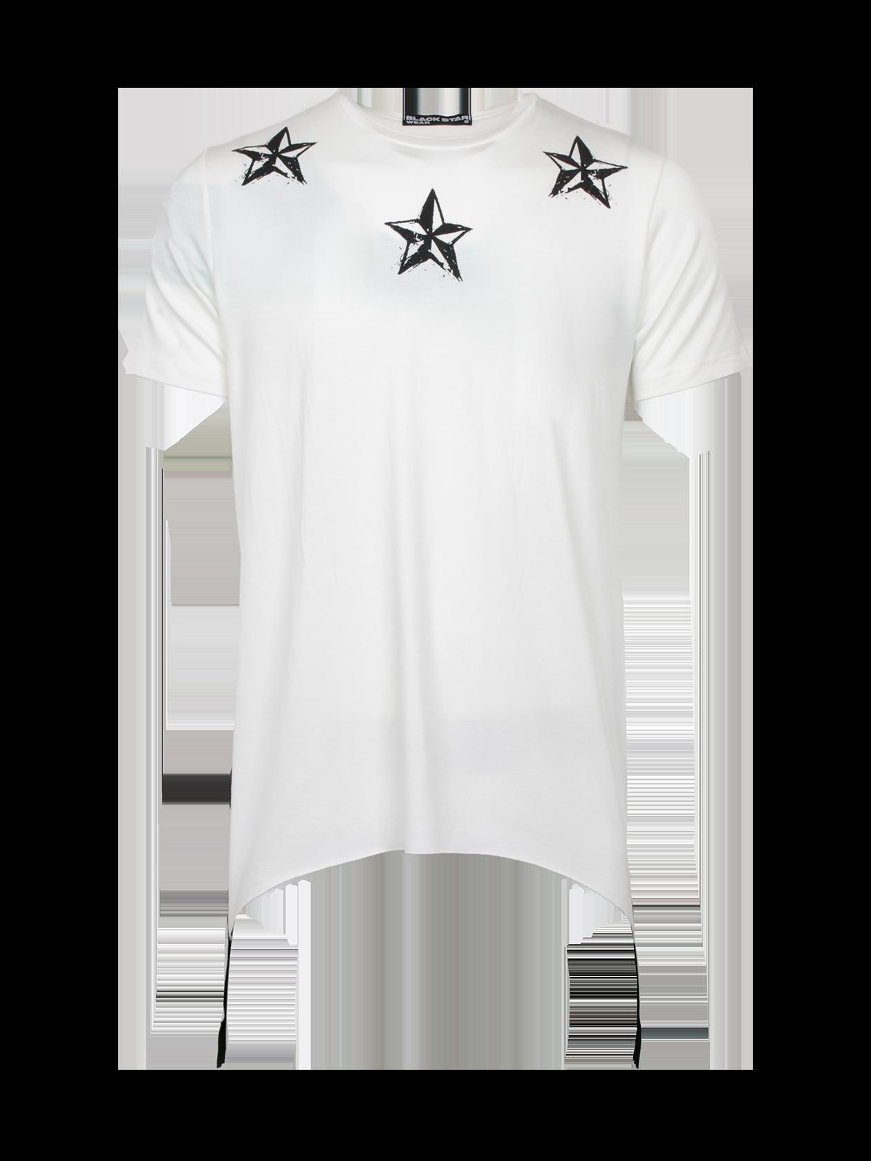 Футболка мужская REGULARМужская футболка из новой коллекции Black Star Wear. Стильная, практичная и очень качественная модель свободного кроя с коротким рукавом, а так же уникальным дизайнерским рисунком на груди в стилеBlack Star. Изделие выполнено из натурального хлопка премиального качества, что обеспечит безупречный комфорт. Низ дополняет ультрамодное дизайнерское решение в виде черных широких молний по бокам. Идеально дополнит стильный мужской образ на каждый день. Несомненно станет незаменимой и любимой вещью в гардеробе. Модель доступна в сером, черном и белом цветах.<br><br>Размер: XS<br>Цвет: Белый<br>Пол: Мужской
