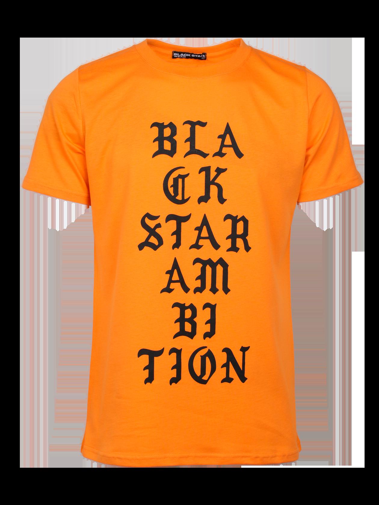 Футболка унисекс AMBITIONСтильная футболка унисекс AMBITION из новой коллекции Black Star Wear Orange Flame. Модель с коротким рукавом классического кроя и округлой эластичной горловиной. Изготовлена из хлопка премиального качества, что обеспечит неповторимый комфорт даже в жаркие летние дни. Отличительный и привлекательный дизайн подчеркивает яркий оранжевый цвет, а так же фирменный принт Black Star Ambition на фронтальной стороне изделия. Такая вещь несомненно подчеркнет индивидуальность стиля и станет незаменимой как в мужском, так и в женском гардеробе.<br><br>Размер: XS<br>Цвет: Оранжевый<br>Пол: Мужской