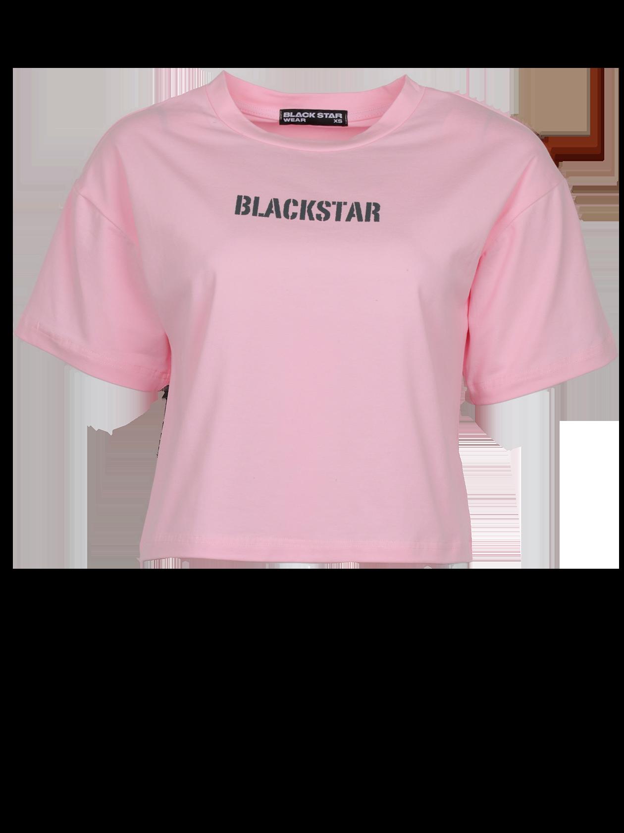 Футболка женская CUTIE PINKМолодежная женская футболка CUTIE PINK из коллекции Black Star Wear. Стильная укороченная модель с округлой эластичной горловиной и заниженной линией рукава - тренд этого сезона. Свободный прямой крой, короткий просторный рукав и высококачественный материал данного изделия создают неповторимый комфорт при носке. На груди небольшой принт в виде фирменного логотипа Black Star. Идеально подойдет, как для создания образа на каждый день, так и для спортивного стиля. Модель представлена в нежно-розовом цвете.<br><br>Размер: M<br>Цвет: Розовый<br>Пол: Женский