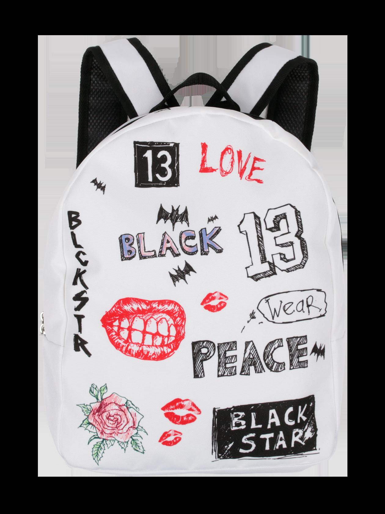 Рюкзак женский BS SKETCHМолодежный стильный женский рюкзак BS SKETCH из новой коллекции Black Star Wear. Изделие выполнено из высококачественного материала. Практичный и очень удобный с мягкими лямками для носки на плечах и небольшой ручкой для комфортного переноса в одной руке. Вместительный основной сектор на молнии. Модель представлена в классическом белом цвете, лямки отделаны изнутри черным перфорированным материалом. Яркий и уникальный дизайн создают многочисленные фирменные принты в стиле новой коллекции Black Star. Стильный и незаменимый аксессуар в гардеробе ярких активных девушек.<br><br>Размер: Единый размер<br>Цвет: Белый<br>Пол: Унисекс