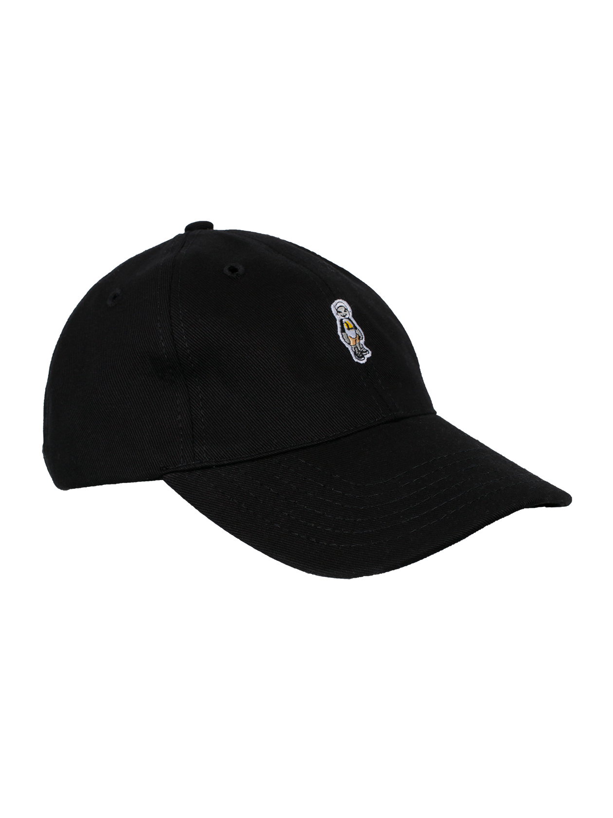 Кепка унисекс CATКепка унисекс Cat надежно защитит от солнца и придаст образу индивидуальности. Классический дизайн, широкий короткий козырек, пять панелей. Наличие вентиляционных отверстий гарантирует отличный воздухообмен. Спереди аксессуар украшен вышивкой с изображением кота в шлеме. Универсальная черная расцветка подходит к любой одежде и обуви. Сзади расположена застежка, позволяющая регулировать ширину изделия. Качественный хлопковый материал создает комфорт и легкость при носке.<br><br>Размер: Единый размер<br>Цвет: Черный<br>Пол: Унисекс