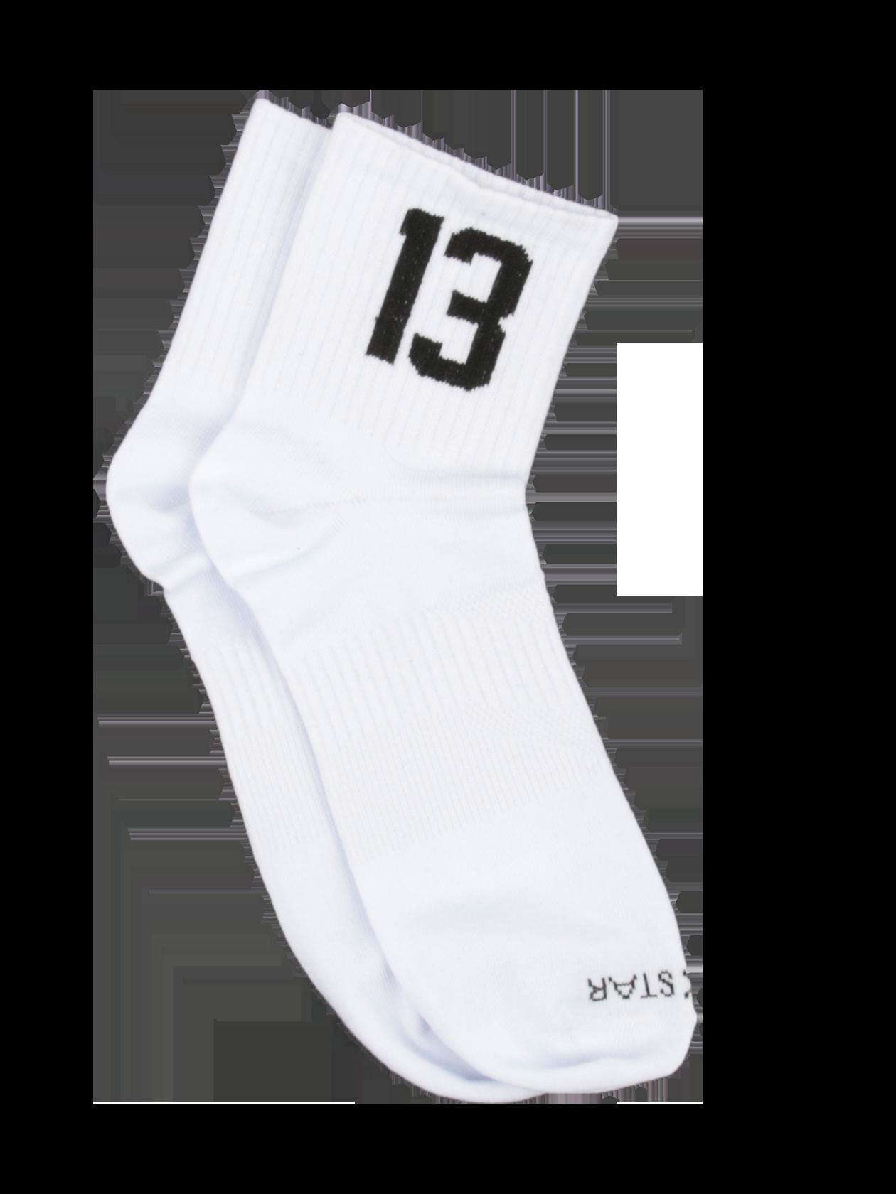 Носки унисекс 13 SPORT (3 шт)Носки унисекс 13 Sport от Black Star Wear – необходимая вещь в любом гардеробе. Модель выполнена в базовом белом цвете из натурального хлопка безупречного качества. Голенище средней длины оформлено брендированной трикотажной резинкой, по бокам дополнено черной вышивкой с цифрой 13. В передней части носка вышитая надпись Black Star. Носки представлены в комплекте, состоящем из трех пар. Идеальный вариант для спорта и отдыха.<br><br>Размер: 39/40<br>Цвет: Серый/Черный/Белый<br>Пол: Унисекс