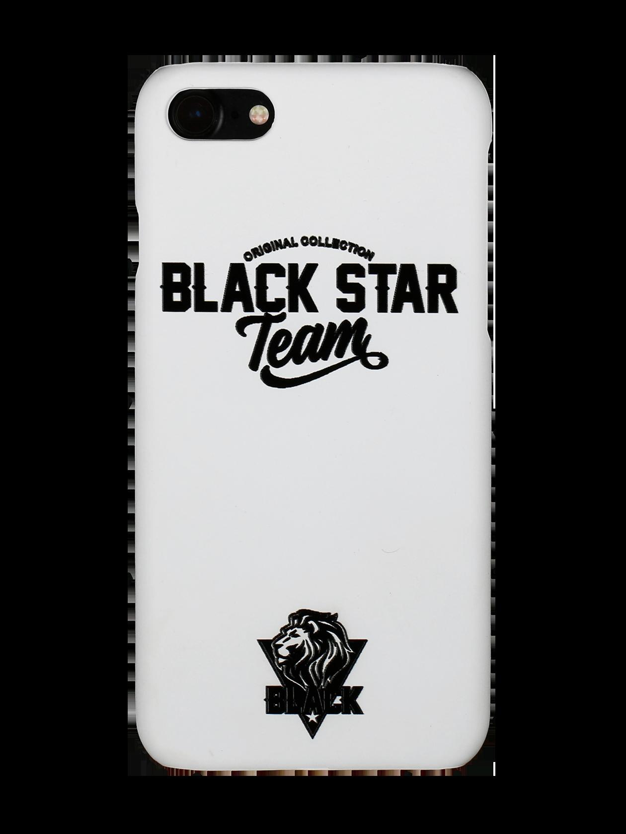 Чехол для телефона TEAMЧехол для телефона из коллекции Black Star Wear. Матовая чёрная поверхность, контрастный белый принт Black Star Team. Защитный кейс из ударопрочного пластика повторяет форму гаджета и защищает его от вредного внешнего воздействия, сколов и пыли, сохраняя при этом доступ ко всем кнопкам и разъёмам.<br><br>Размер: 5<br>Цвет: Белый<br>Пол: Унисекс