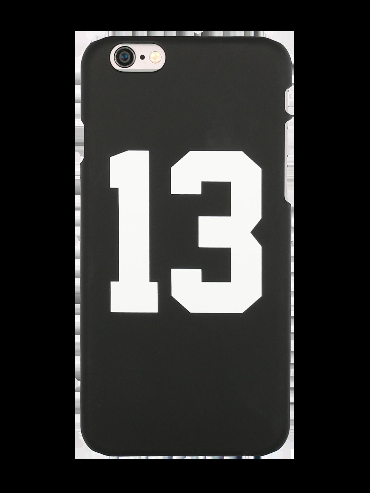 Чехол для телефона 13 SPORTЧехол для телефона 13 Sport из коллекции Black Star Wear для завершения стильного образа. Аксессуар выполнен из прочного пластика, защищающего гаджет от сколов и царапин. Изделие в виде задней стенки мобильного устройства отлично повторяет контуры корпуса, препятствуя попаданию пыли. Лаконичный дизайн, черная матовая поверхность с принтом «13» по центру.<br><br>Размер: 6+<br>Цвет: Черный<br>Пол: Унисекс