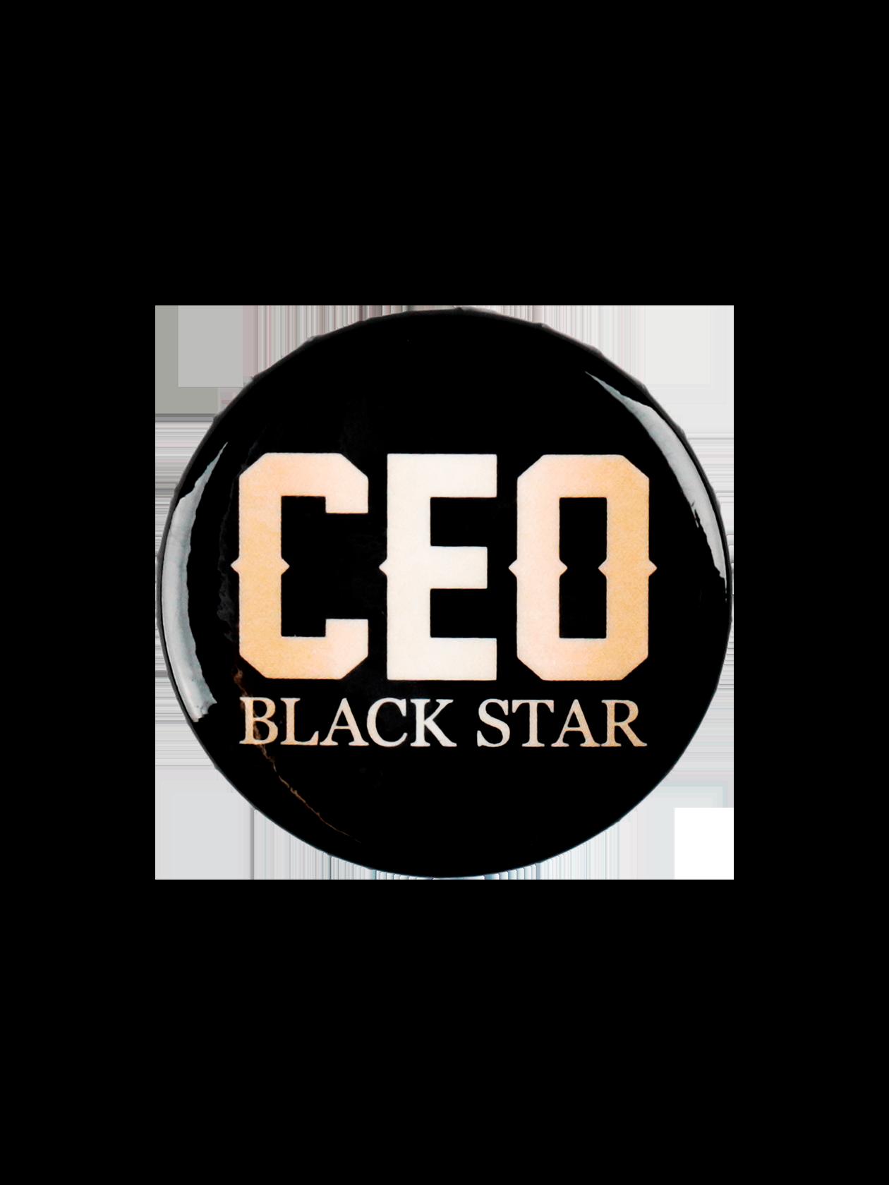Значок ROYALTY СEOЗначок Royalty Ceo от Black Star Wear – оригинальный аксессуар для индивидуализации своего лука. Изделие традиционной круглой формы с глянцевой поверхностью. В качестве застежки выступает удобная и надежная английская булавка. Модель изготовлена из прочного материала черного цвета, декорирована надписью «Ceo Black Star». Подходит к одежде спортивного и повседневного стиля.<br><br>Размер: Единый размер<br>Цвет: Черный<br>Пол: Унисекс