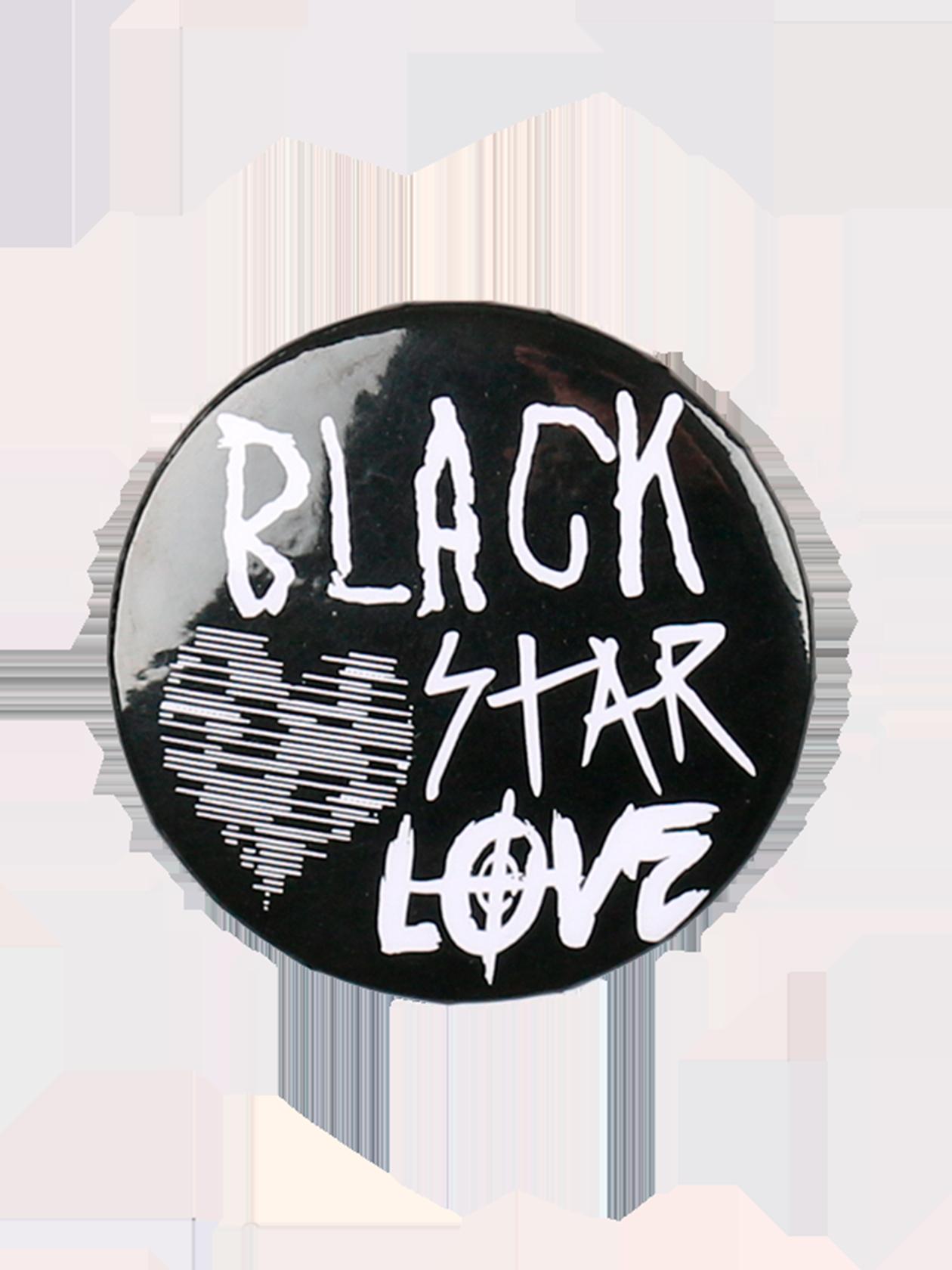 Значок AMOURСтильный значок Amour с контрастной надписью Black Star Love и заштрихованным сердцем добавит стиля повседневному образу. Аксессуар классической круглой формы изготовлен из практичного материала. Застежка английская булавка надежно крепит изделие на одежде, сумке или рюкзаке. Выберите для себя наиболее привлекательную расцветку украшения – белую, красную или черную.<br><br>Размер: Единый размер<br>Цвет: Черный<br>Пол: Унисекс