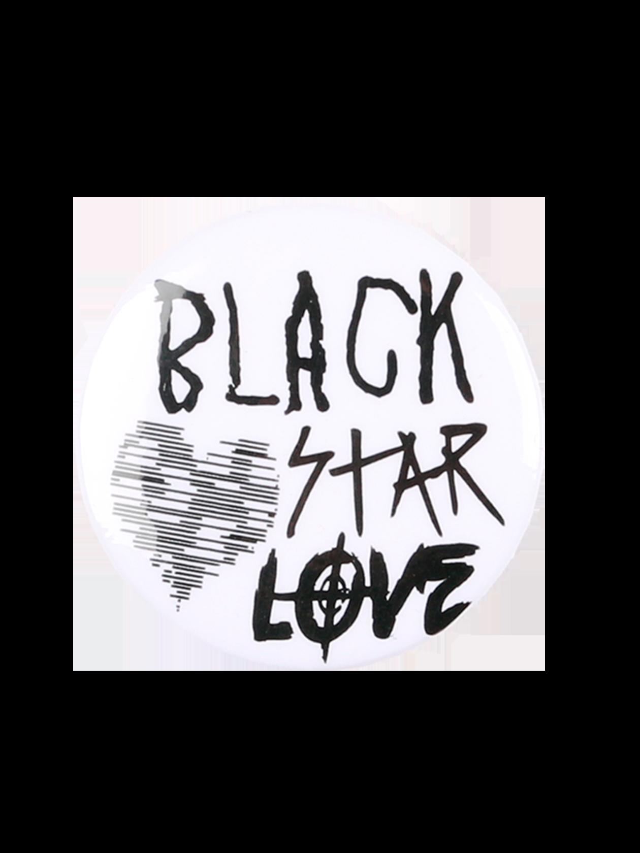 Значок AMOURСтильный значок Amour с контрастной надписью Black Star Love и заштрихованным сердцем добавит стиля повседневному образу. Аксессуар классической круглой формы изготовлен из практичного материала. Застежка английская булавка надежно крепит изделие на одежде, сумке или рюкзаке. Выберите для себя наиболее привлекательную расцветку украшения – белую, красную или черную.<br><br>Размер: Единый размер<br>Цвет: Белый<br>Пол: Унисекс