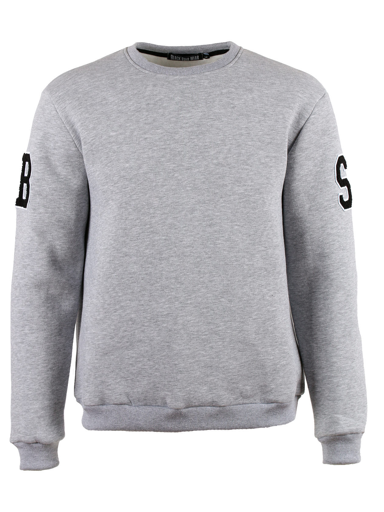 Костюм спортивный мужской GREY TAFTINGКостюм спортивный мужской Gray Tafting – обязательная вещь в любом гардеробе. Комплект состоит из свитшота прямого свободного кроя и зауженных джоггеров. Модель представлена в популярном цвете серый меланж. На рукавах нашивки с черными буквами B и S. Округлая горловина с жаккардовым лейблом Black Star Wear внутри. Манжеты, пояса и нижний край брюк выполнены из эластичной трикотажной резинки с рифленой текстурой. Изделие выполнено из натурального футера, обладающего высокой практичностью и износостойкостью.<br><br>Размер: S<br>Цвет: Серый меланж<br>Пол: Унисекс