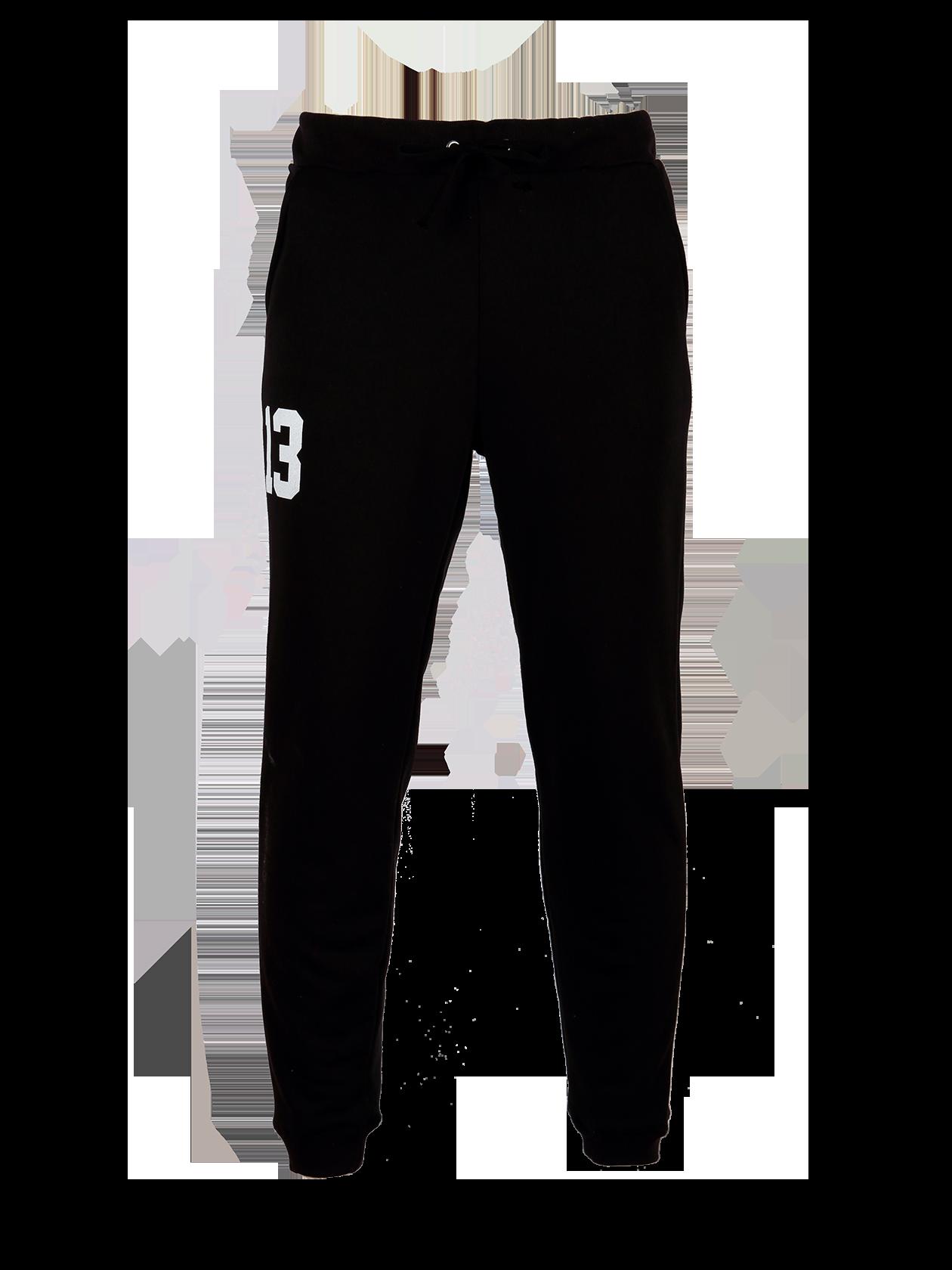 Mens Trousers BS13Черные брюки мужские BS13 идеально впишутся в повседневный и спортивный стиль. Изделие выполнено из плотного хлопкового полотна элитного качества. Прямой полусвободный крой с зауживанием к нижнему краю. Голенище и пояс отделаны широкой трикотажной резинкой. На поясе имеются завязки, по бокам внутренние карманы. Дизайн дополнен контрастным белым принтом с цифрой 13 на правом бедре. Подходит для любого сезона.<br><br>size: L<br>color: Black<br>gender: male