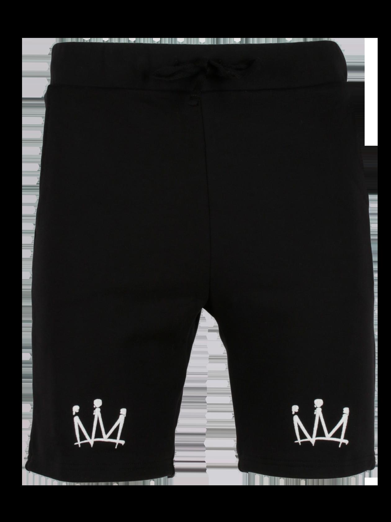 Шорты мужские DOUBLE CROWNШорты мужские Double Crown из новой коллекции артиста Мота добавят стиля повседневному образу. Модель выполнена в базовом черном цвете, обладает прямым свободным кроем. На поясе широкая фиксирующая резинка, низ изделия слегка закругленной формы. Декоративный элемент – небольшие белые короны на левой и правой штанине спереди. Сзади внутренний карман на листочке. Вещь сшита из премиального хлопка плотной текстуры.<br><br>Размер: XS<br>Цвет: Черный<br>Пол: Мужской