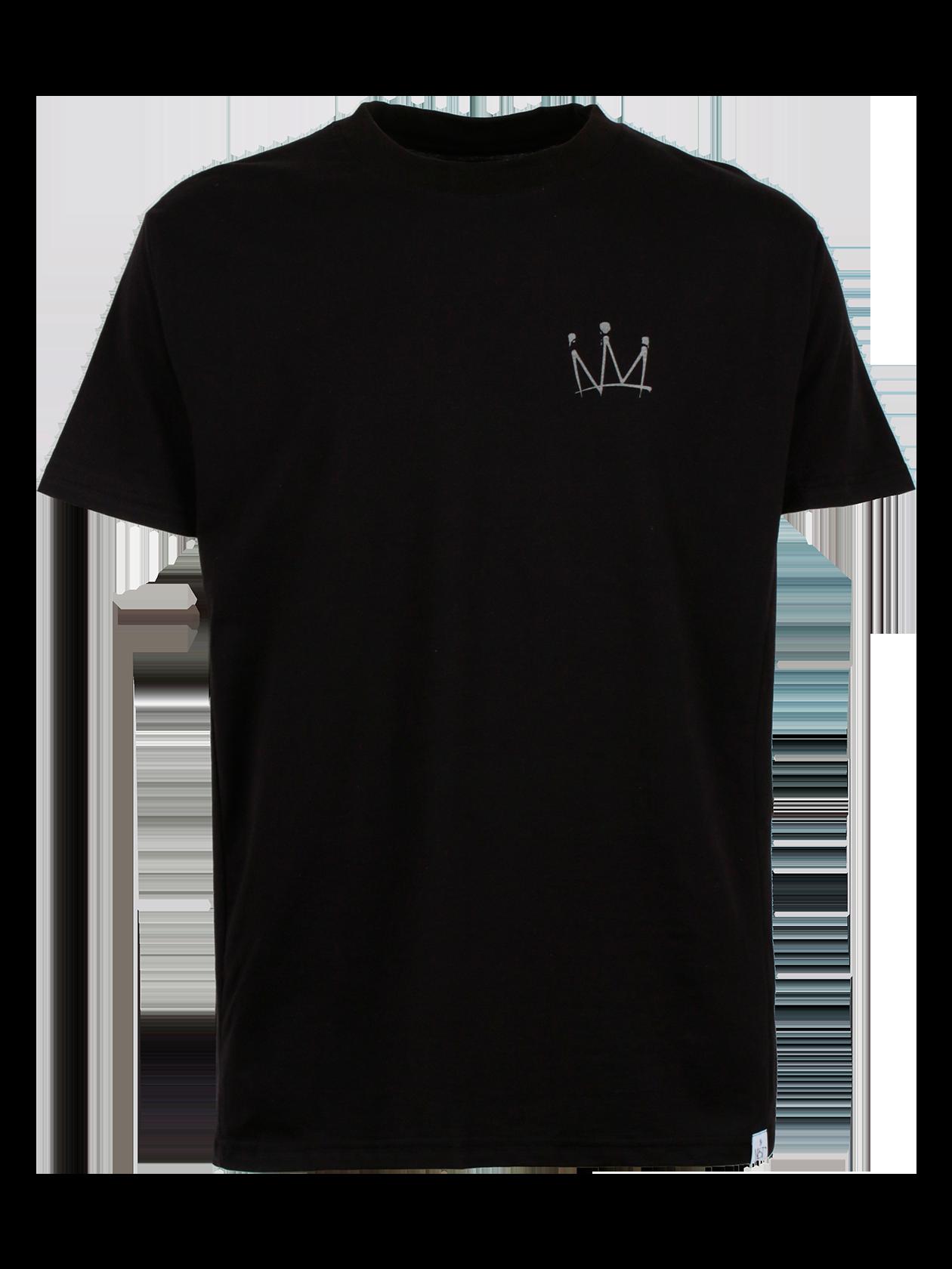 Футболка унисекс MOT CROWNФутболка унисекс Мот Crown из капсульной коллекции популярного артиста Мота привлекает лаконичным и стильным дизайном. Модель классического прямого свободного кроя с коротким широким рукавом, создана из высококачественного хлопка. Узкая горловина отделана эластичной окантовкой, внутри лейбл бренда Black Star Wear. На груди оформлен принт в виде короны, внизу небольшая фирменная нашивка. Спинка декорирована пирамидой из корон и автографом Мота. Изделие доступно в двух расцветках: белой и черной.<br><br>Размер: S<br>Цвет: Черный<br>Пол: Мужской
