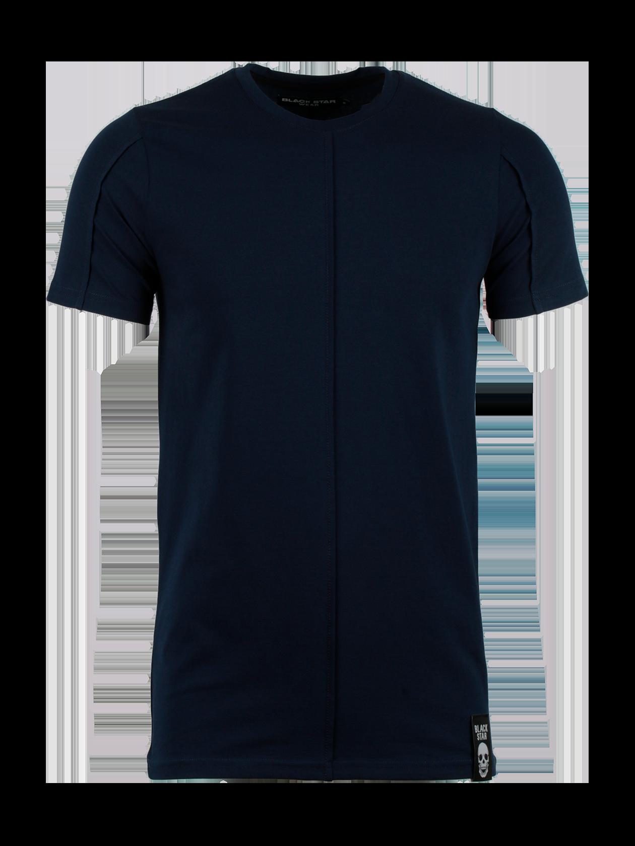 Футболка мужская STITCHФутболка мужская Stitch из линии Basic – идеальный выбор для создания стиля на каждый день. Удлиненная модель прямого полуприлегающего кроя с коротким рукавом. Округлая горловина с эластичной окантовкой содержит лейбл Black Star Wear на внутренней стороне. Изделие представлено в темно-синей однотонной расцветке. Дизайн дополнен декоративными швами «наизнанку» по центру переда и на рукавах. Внизу слева жаккардовая черная нашивка с названием бренда Black Star и принтом в виде черепа. Сшита из хлопка класса «люкс».<br><br>Размер: XS<br>Цвет: Синий<br>Пол: Мужской