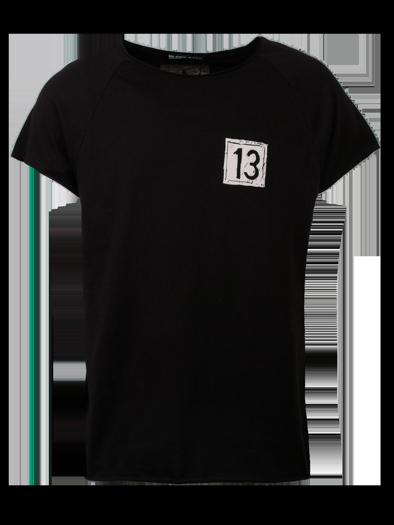 Футболка мужская DRAW BLACK STARУдобная футболка мужская Draw Black Star – идеальное решение для спорта и отдыха. Модель классического кроя с прямым, свободным силуэтом, дополнена коротким рукавом регланом. Неглубокая горловина содержит жаккардовую нашивку с логотипом бренда Black Star Wear на внутренней стороне спинки. Изделие представлено в базовой черной расцветке. На груди небольшой принт в виде белого квадрата с цифрой 13, вдоль центра спины оформлена декоративная белая полоска с надписью Black Star и звездами. Высококачественный хлопок обеспечивает отличный воздухообмен, создавая максимальный комфорт движений.<br><br>Размер: XL<br>Цвет: Черный<br>Пол: Мужской
