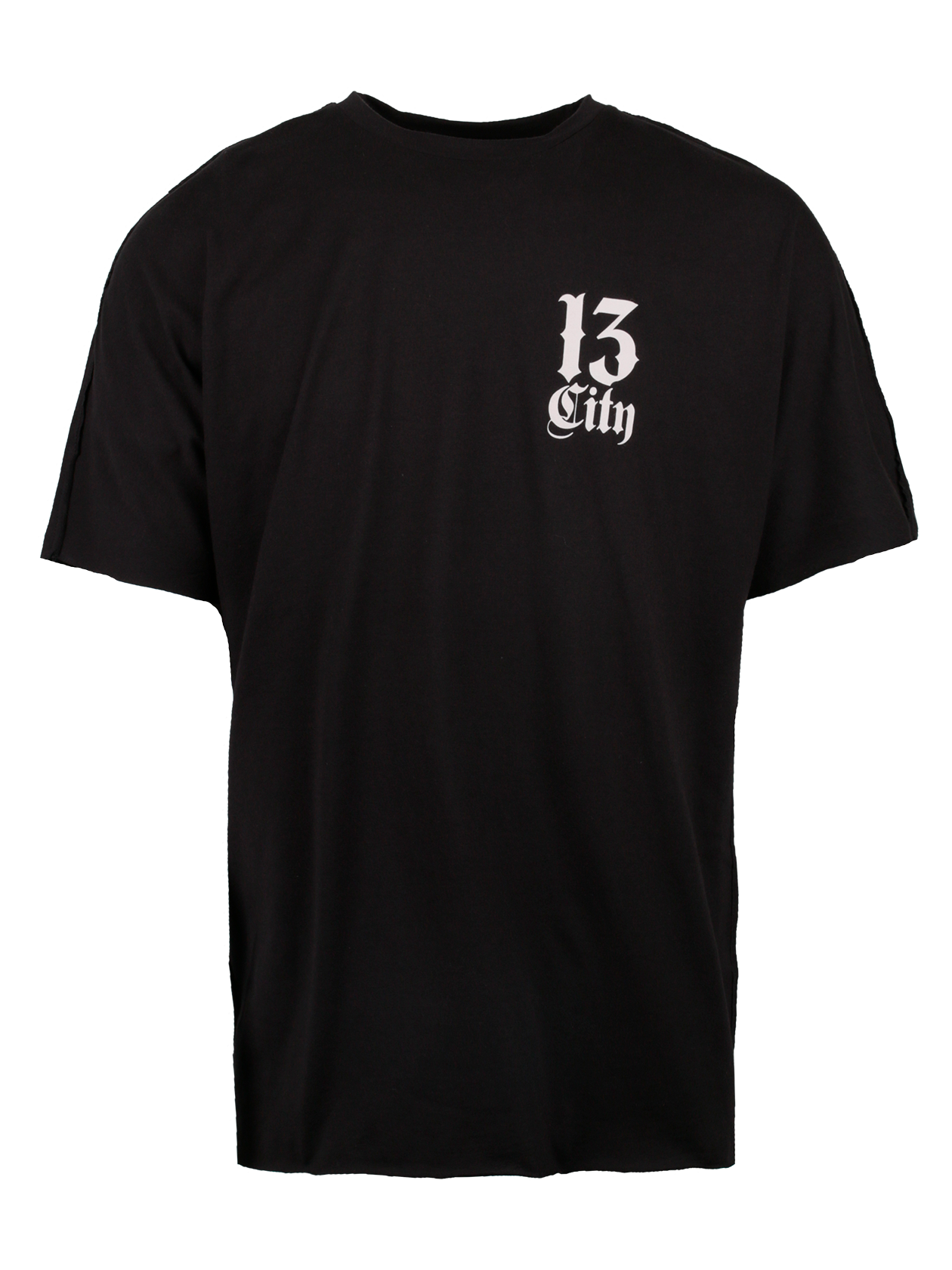 Футболка мужская CITY 13Стильная футболка мужская City 13 станет незаменимой вещью в повседневном гардеробе. Модель классического прямого свободного силуэта, низ слегка удлинен. Цельнокроеный широкий рукав, округлая эластичная горловина. Внутри по вороту спинки оформлен жаккардовый лейбл Black Star Wear. Изделие сшито из 100% хлопка премиального качества, за счет которого создается максимальный комфорт при движении. Футболка представлена в черном цвете, на спине контрастная белая надпись Black Star, на груди небольшая надпись City 13.<br><br>Размер: S<br>Цвет: Черный<br>Пол: Мужской